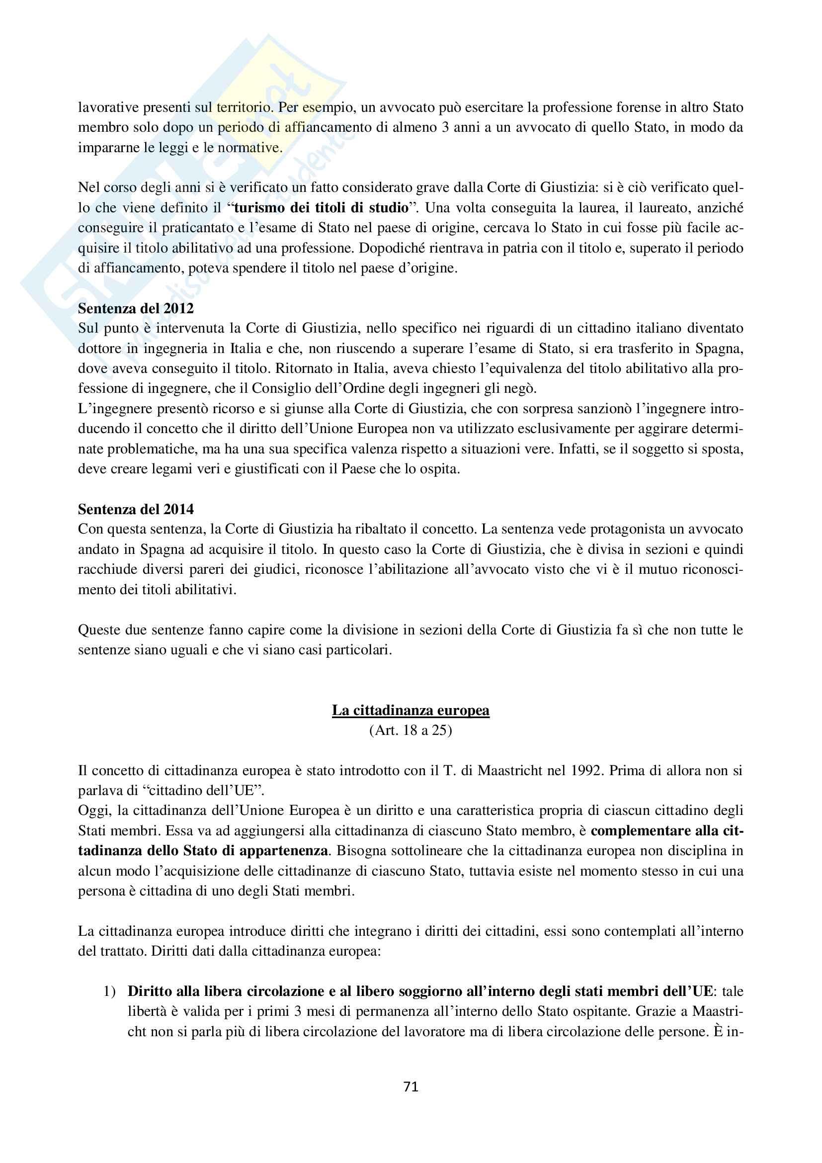 Diritto dell'Unione Europea Pag. 71