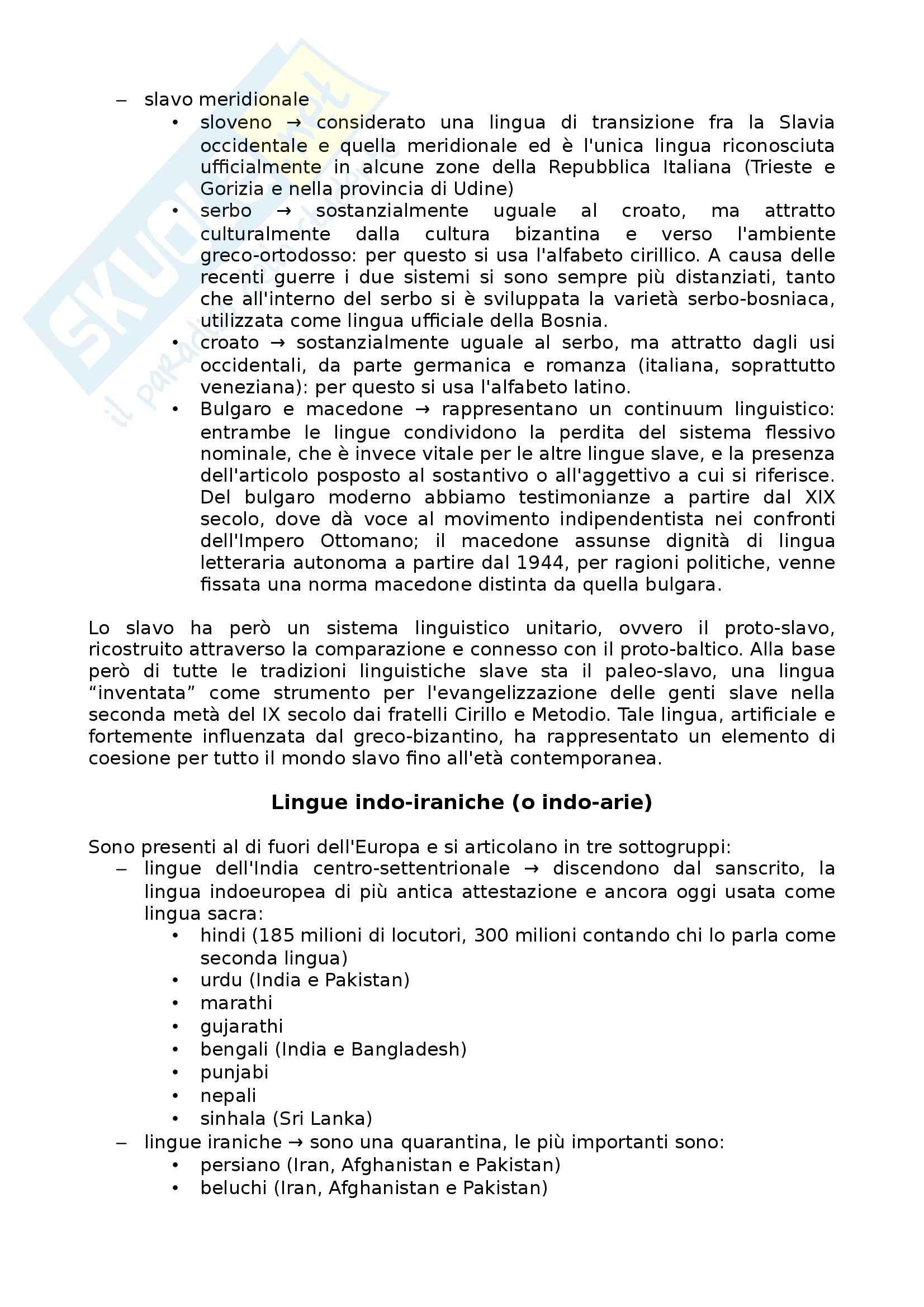 Riassunto esame Linguistica generale, prof. Scala, libro consigliato Lingue d'Europa: Elementi di storia e di tipologia linguistica, Banfi Pag. 11