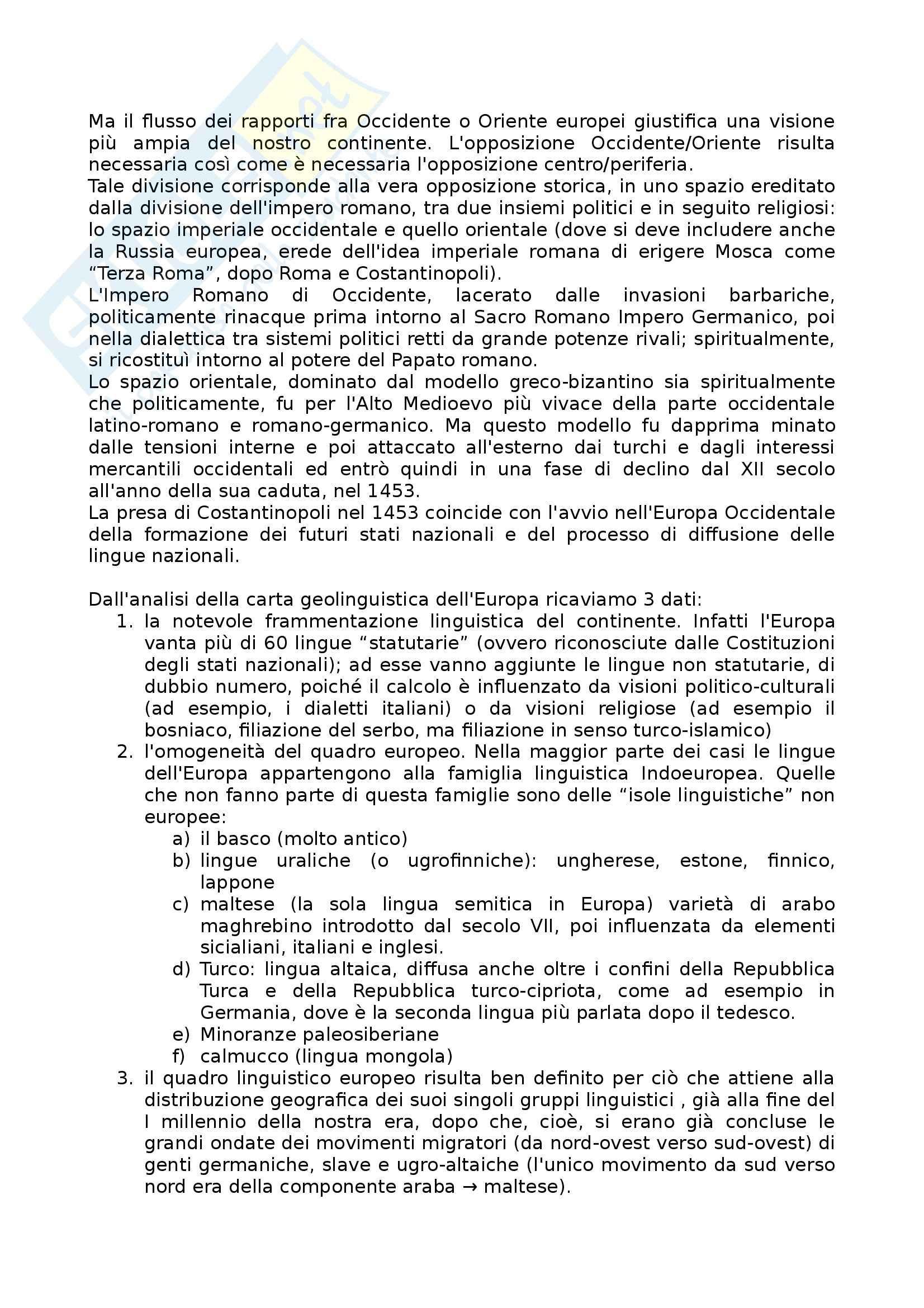 Riassunto esame Linguistica generale, prof. Scala, libro consigliato Lingue d'Europa: Elementi di storia e di tipologia linguistica, Banfi Pag. 2