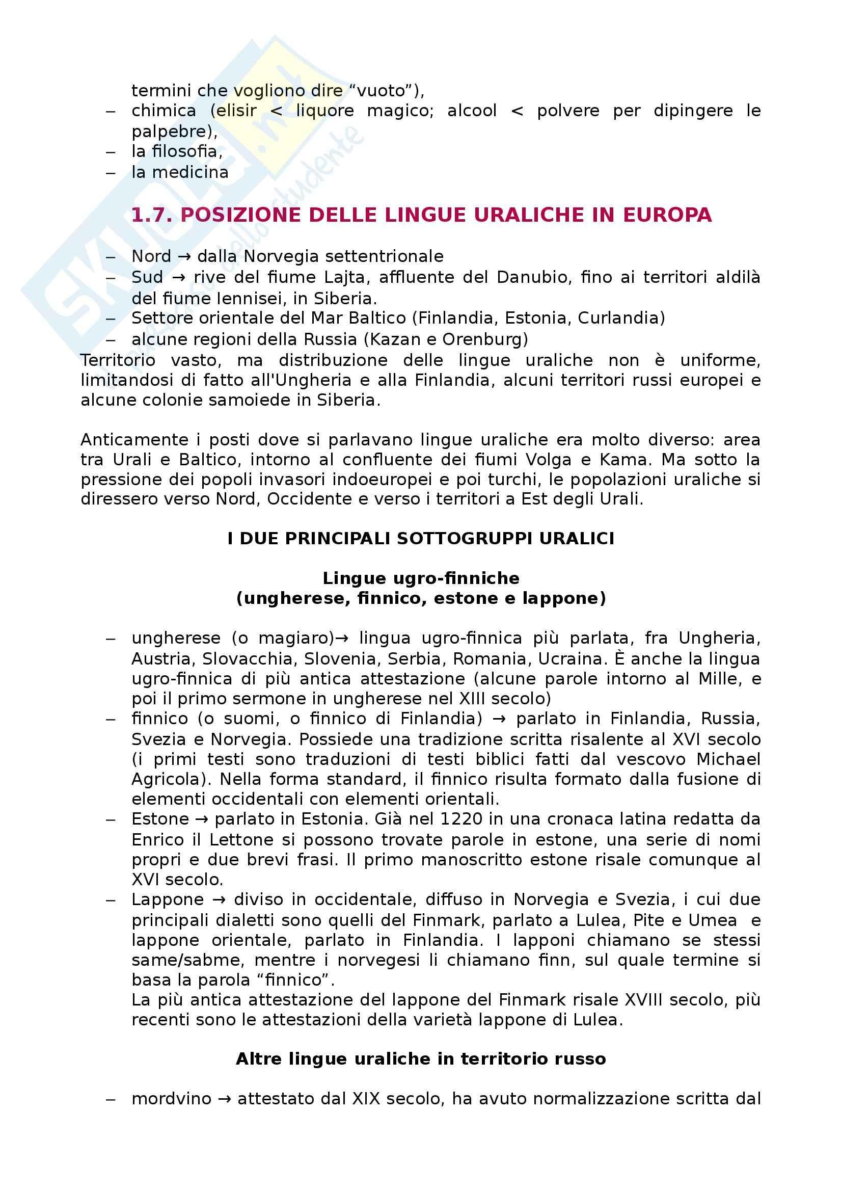 Riassunto esame Linguistica generale, prof. Scala, libro consigliato Lingue d'Europa: Elementi di storia e di tipologia linguistica, Banfi Pag. 21