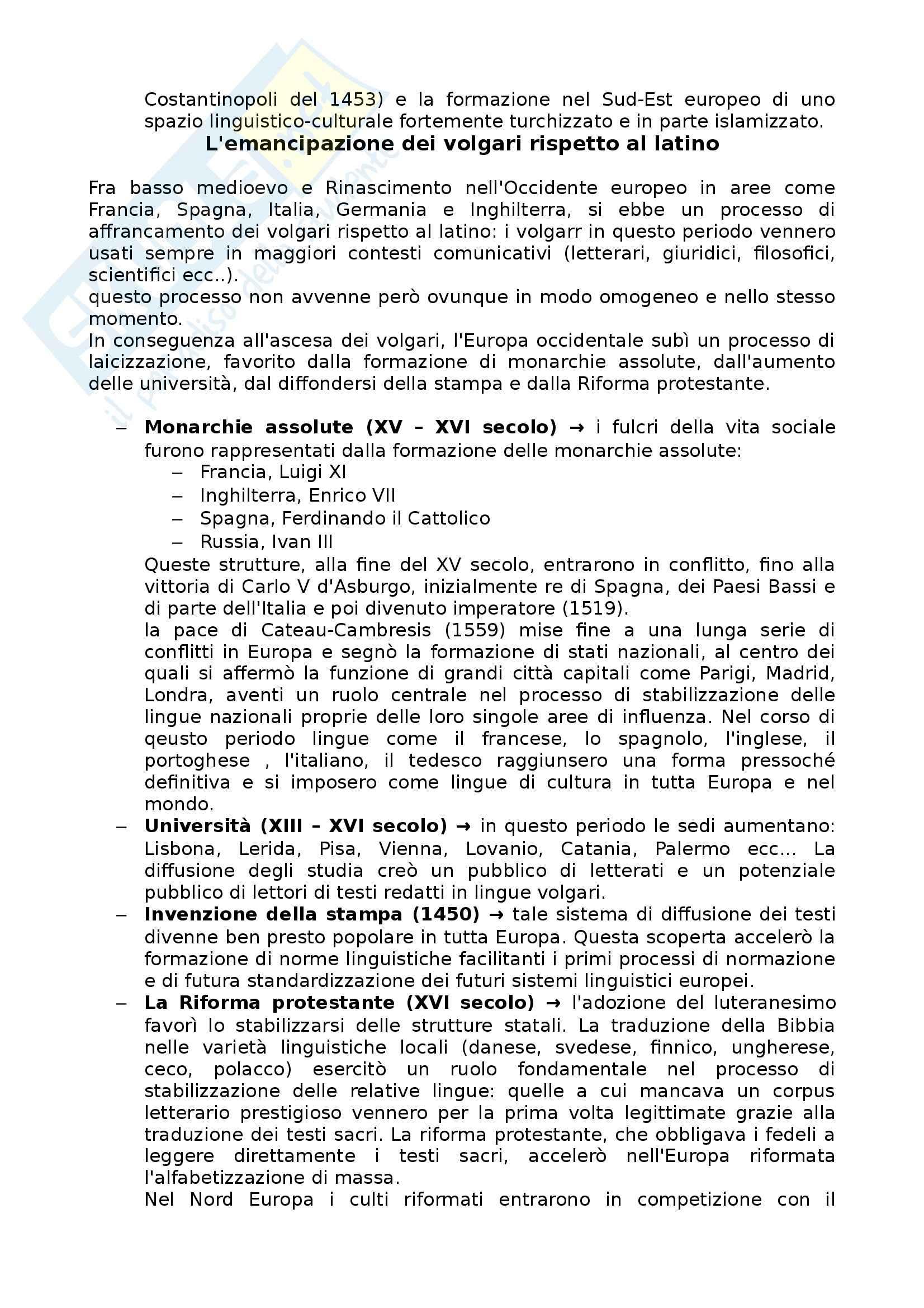 Riassunto esame Linguistica generale, prof. Scala, libro consigliato Lingue d'Europa: Elementi di storia e di tipologia linguistica, Banfi Pag. 26