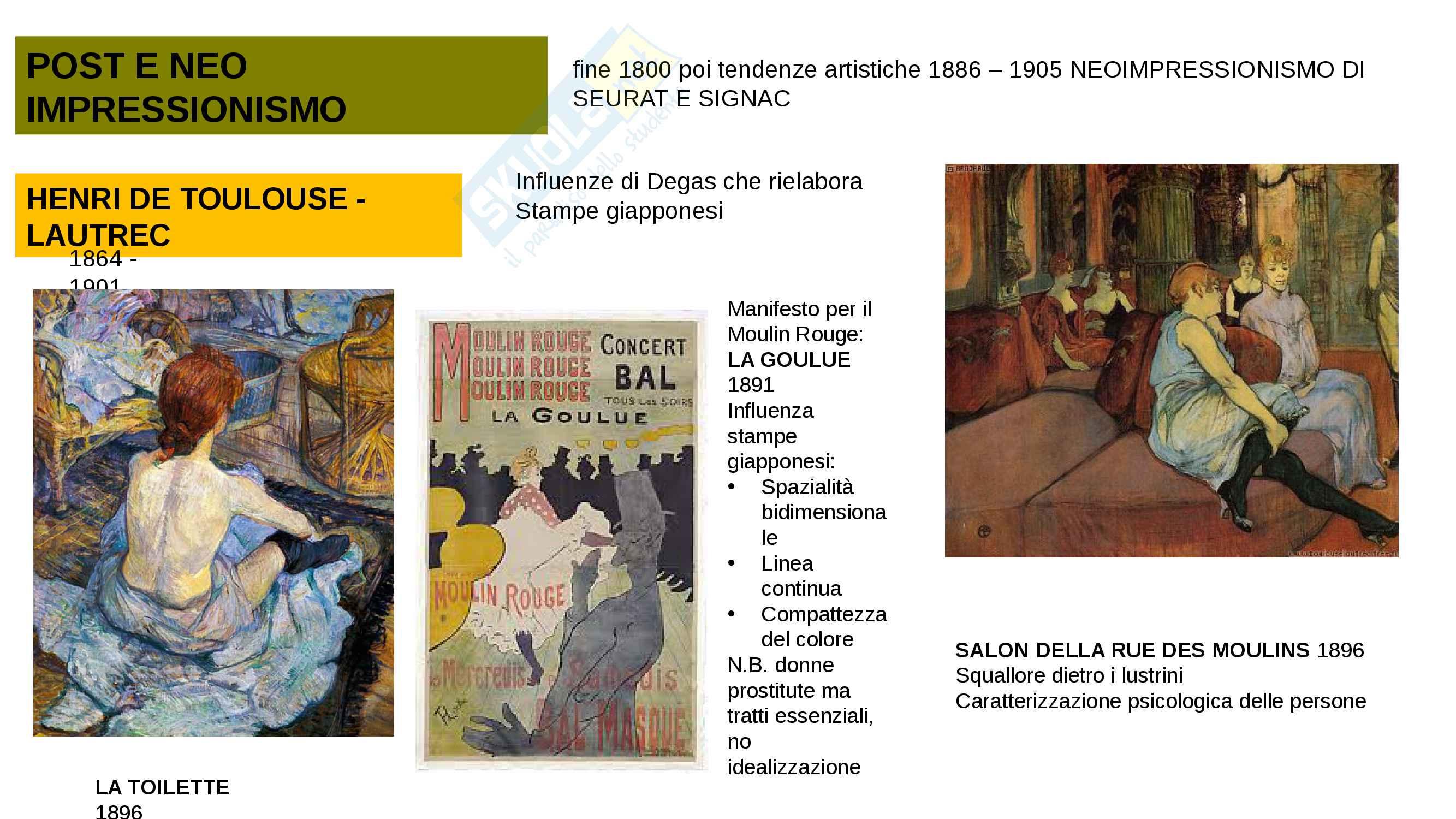 5 Arte contemporanea: Post e Neoimpressionismo