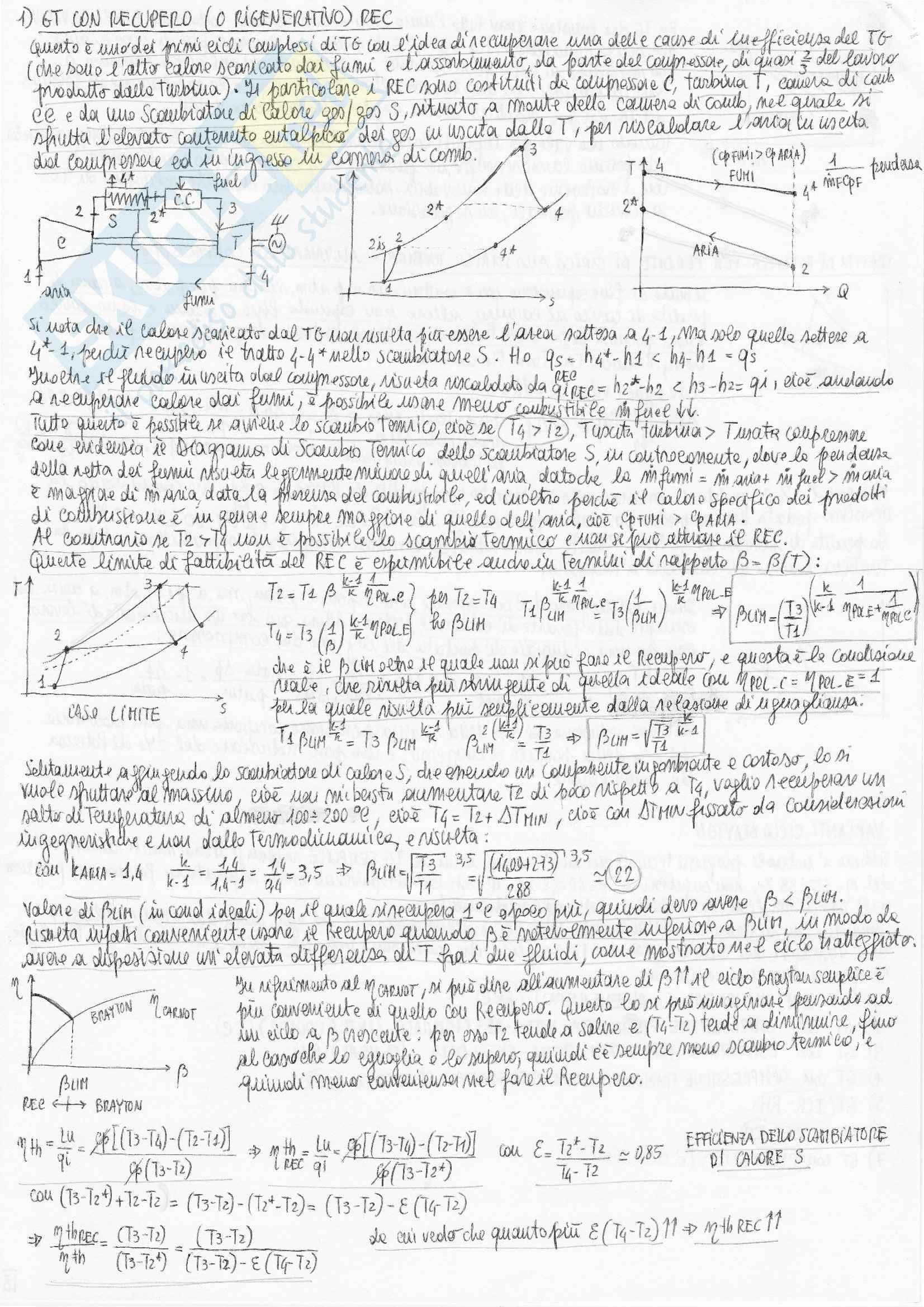 Riassunto esame Sistemi Energetici Avanzati e Cogenerazione, prof. Bianchi Pag. 16