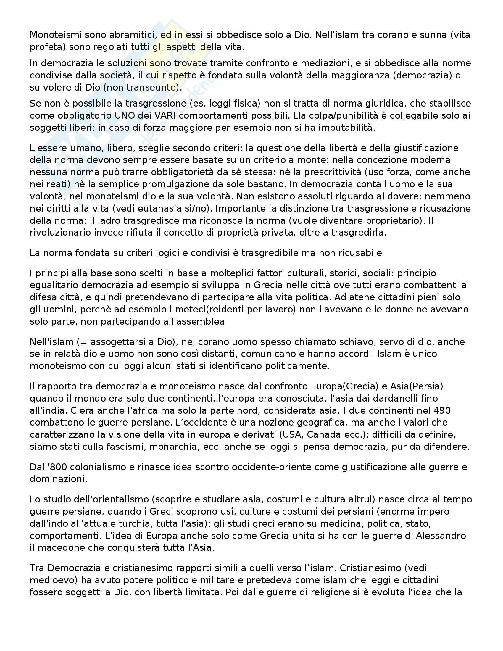 Filosofia del diritto - Riassunto esame lezioni, prof. Ferri