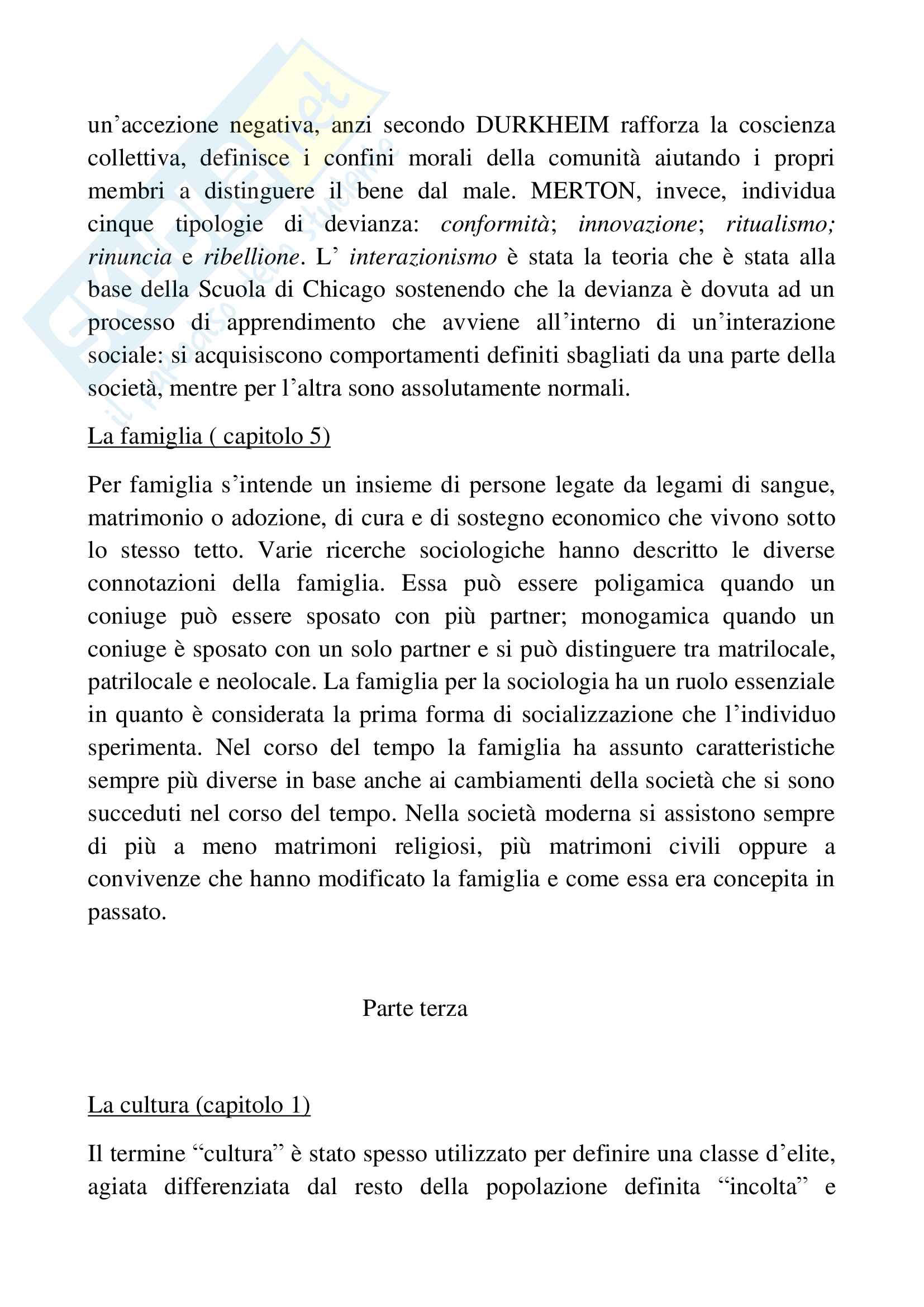 Riassunto esame sociologia generale, docente Pizzo, libro consigliato Sociologia generale, Ambrosini, Sciolla Pag. 11