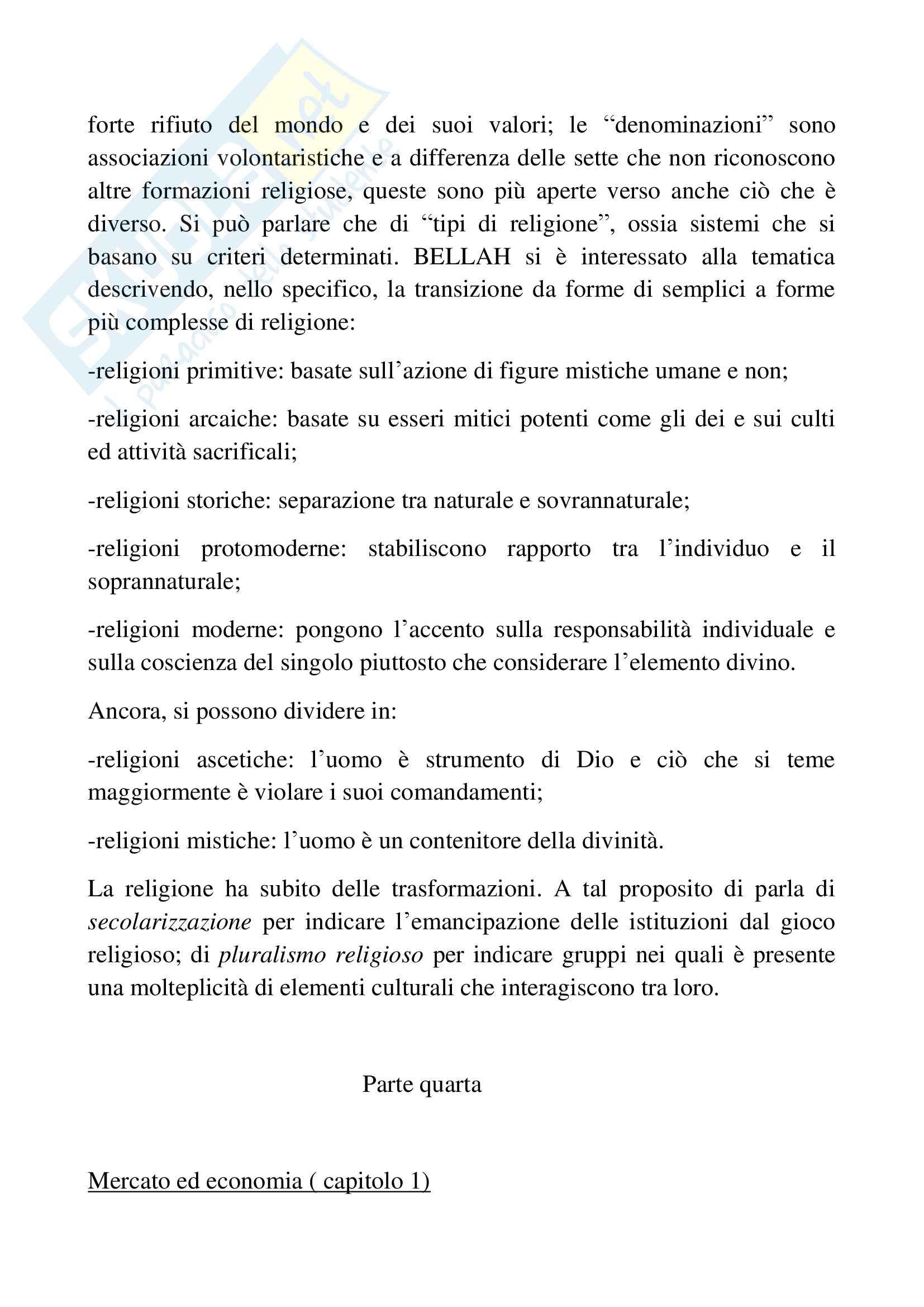 Riassunto esame sociologia generale, docente Pizzo, libro consigliato Sociologia generale, Ambrosini, Sciolla Pag. 16