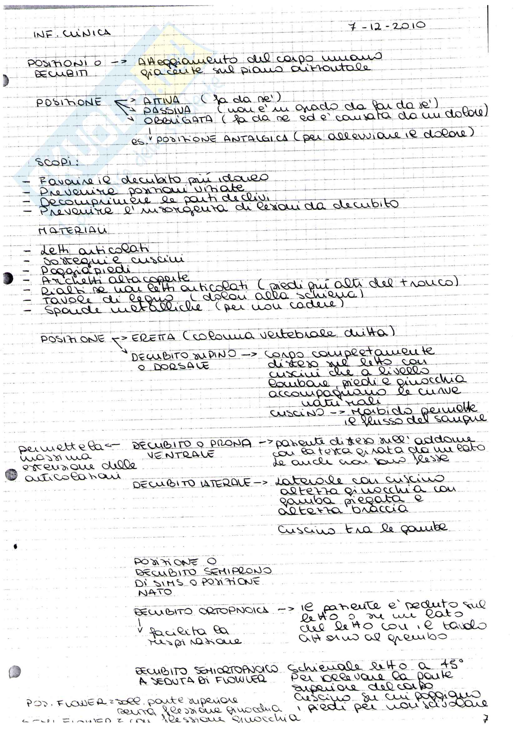 Infermieristica I - Infermieristica clinica Pag. 11