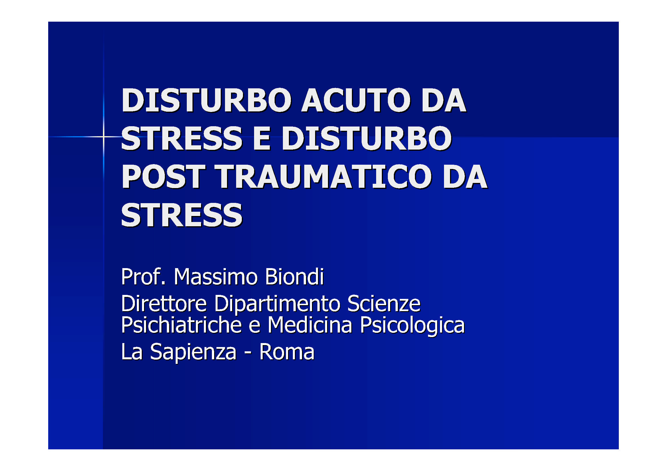 Disturbo da stress post traumatico