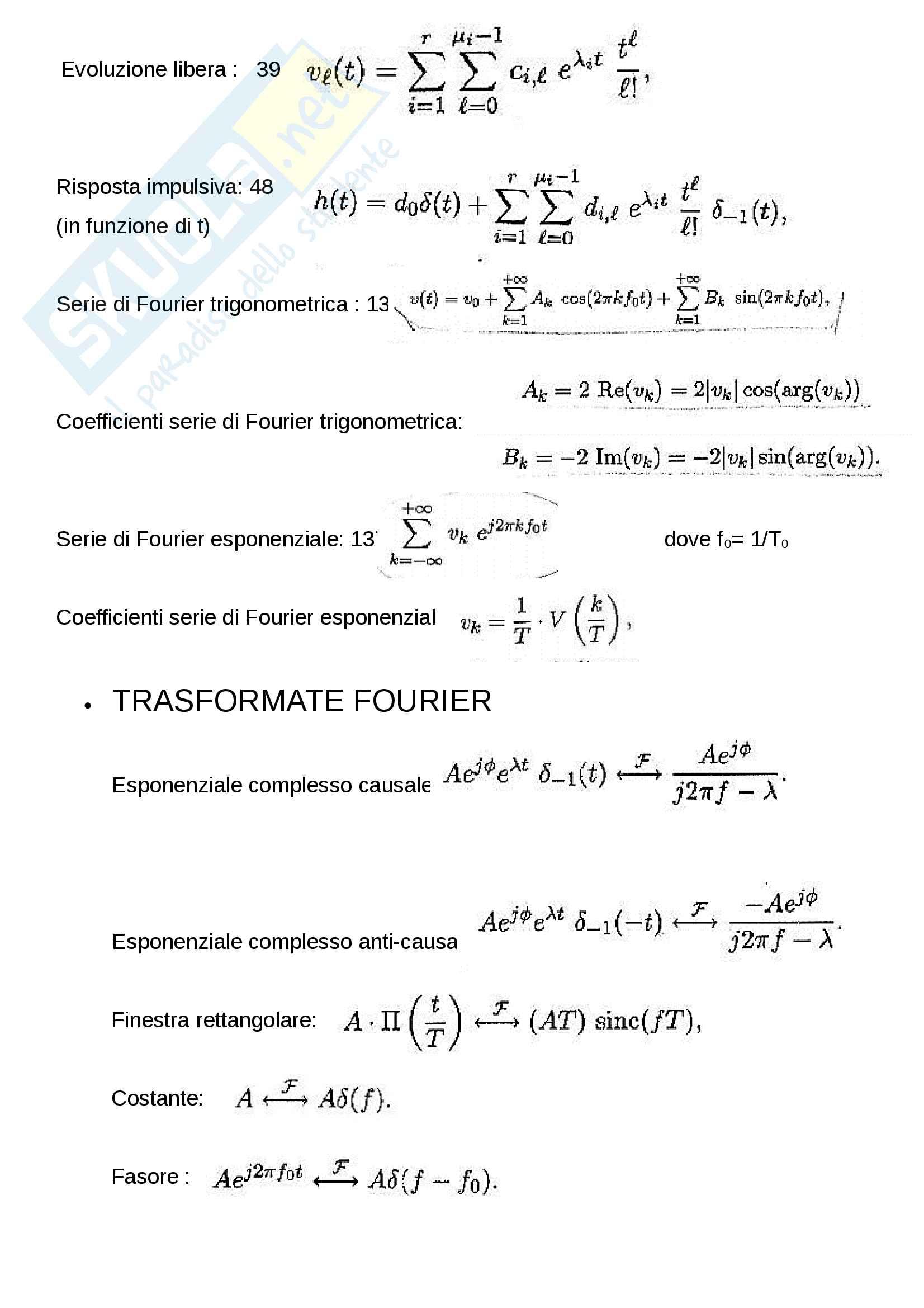 Formule segnali e sistemi