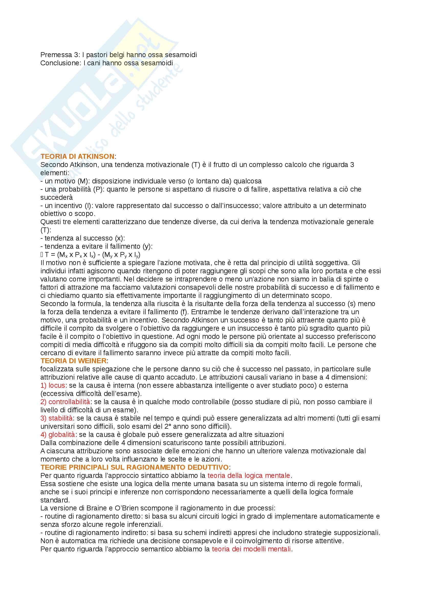 Domande aperte, reverberi, psicologia generale 2, Cherubini Pag. 16