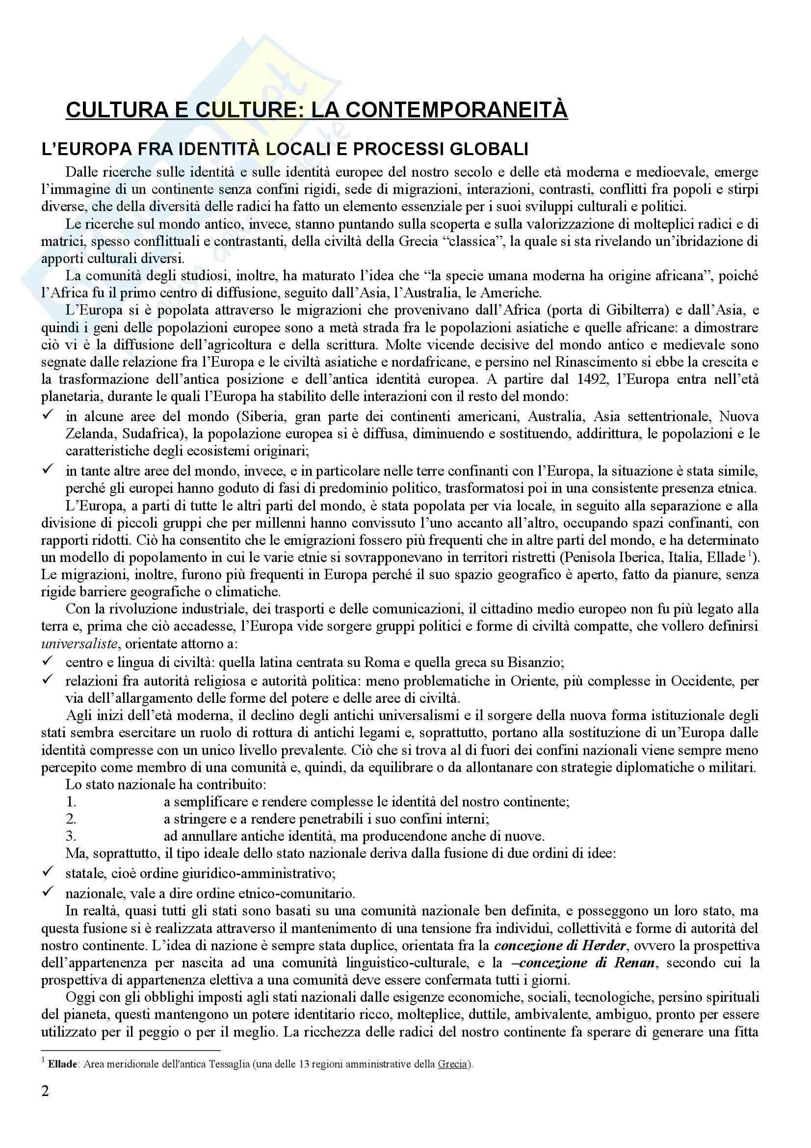 Riassunto esame Geografia, prof. Agostaro, libro consigliato L' Europa nel Terzo Millennio, Proietti Pag. 2
