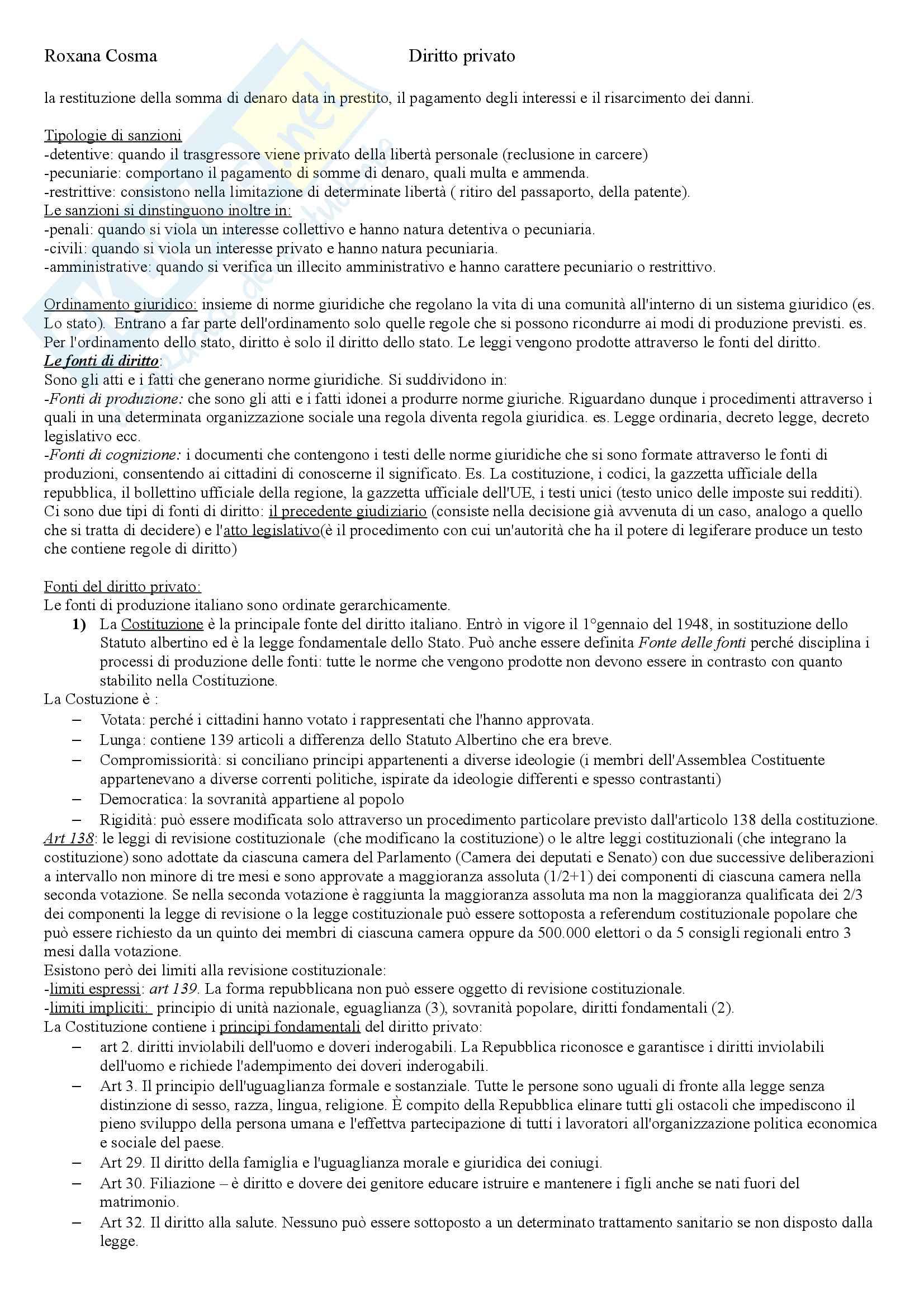 Diritto privato Pag. 2
