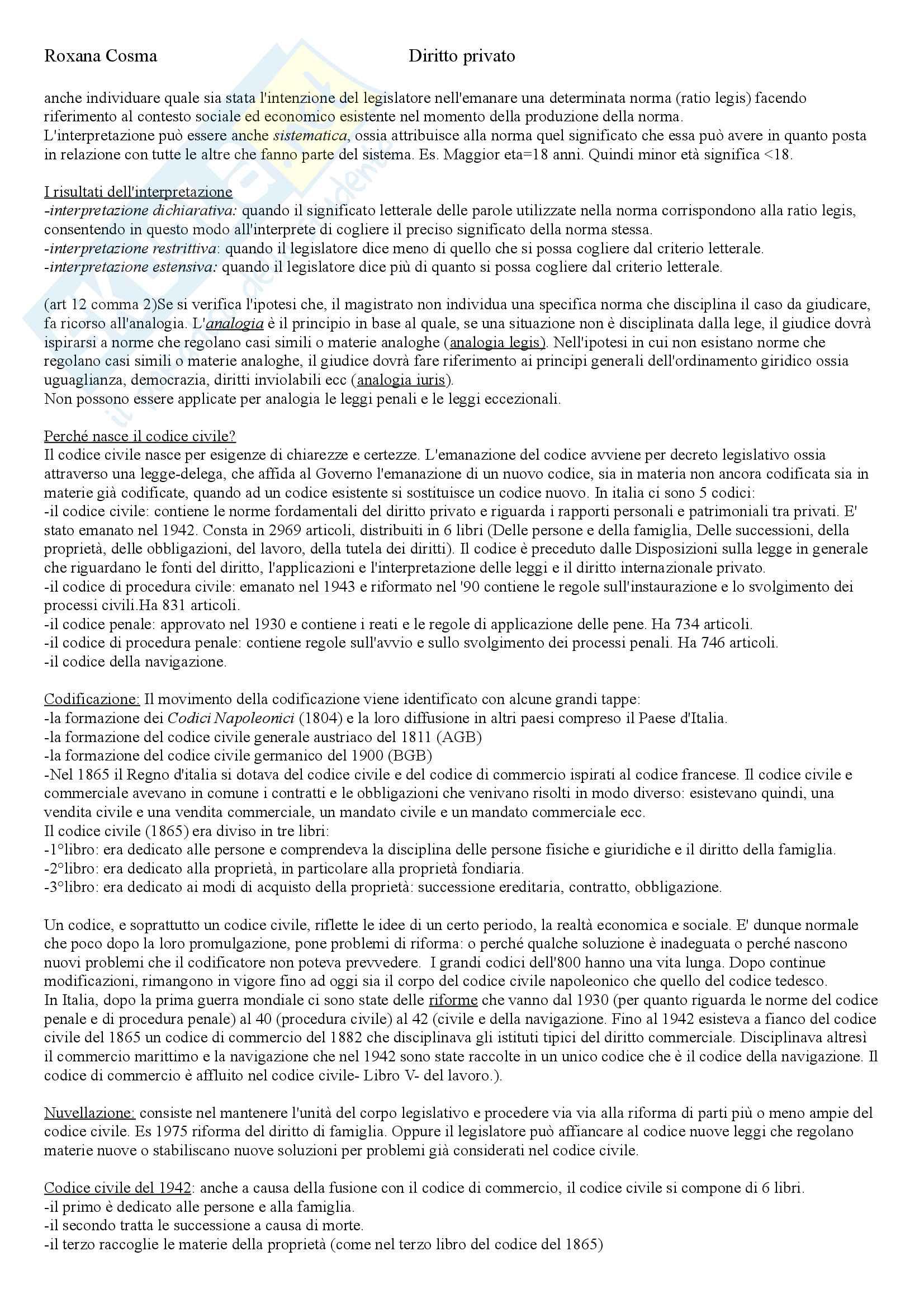 Diritto privato Pag. 6