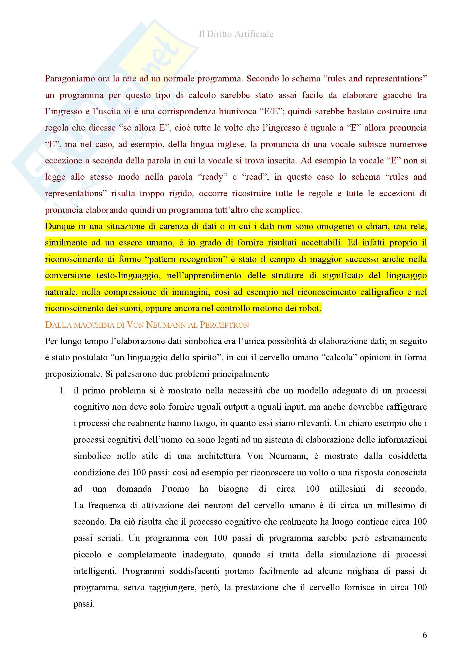 Riassunto esame diInformatica giuridica,, prof. Romeo, libro consigliato Il diritto artificiale, Romeo Pag. 6