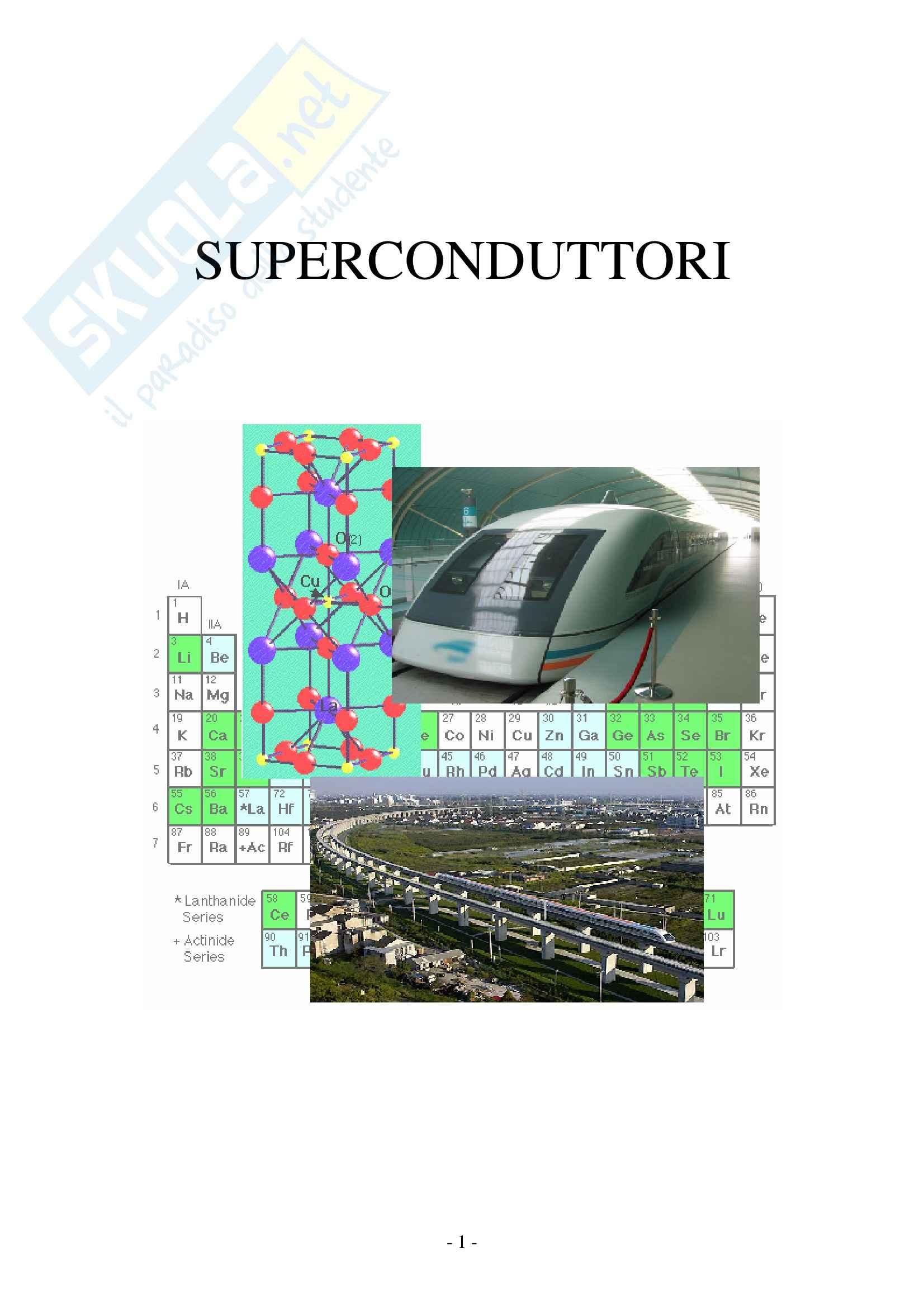 Chimica e materiali - materiali superconduttori