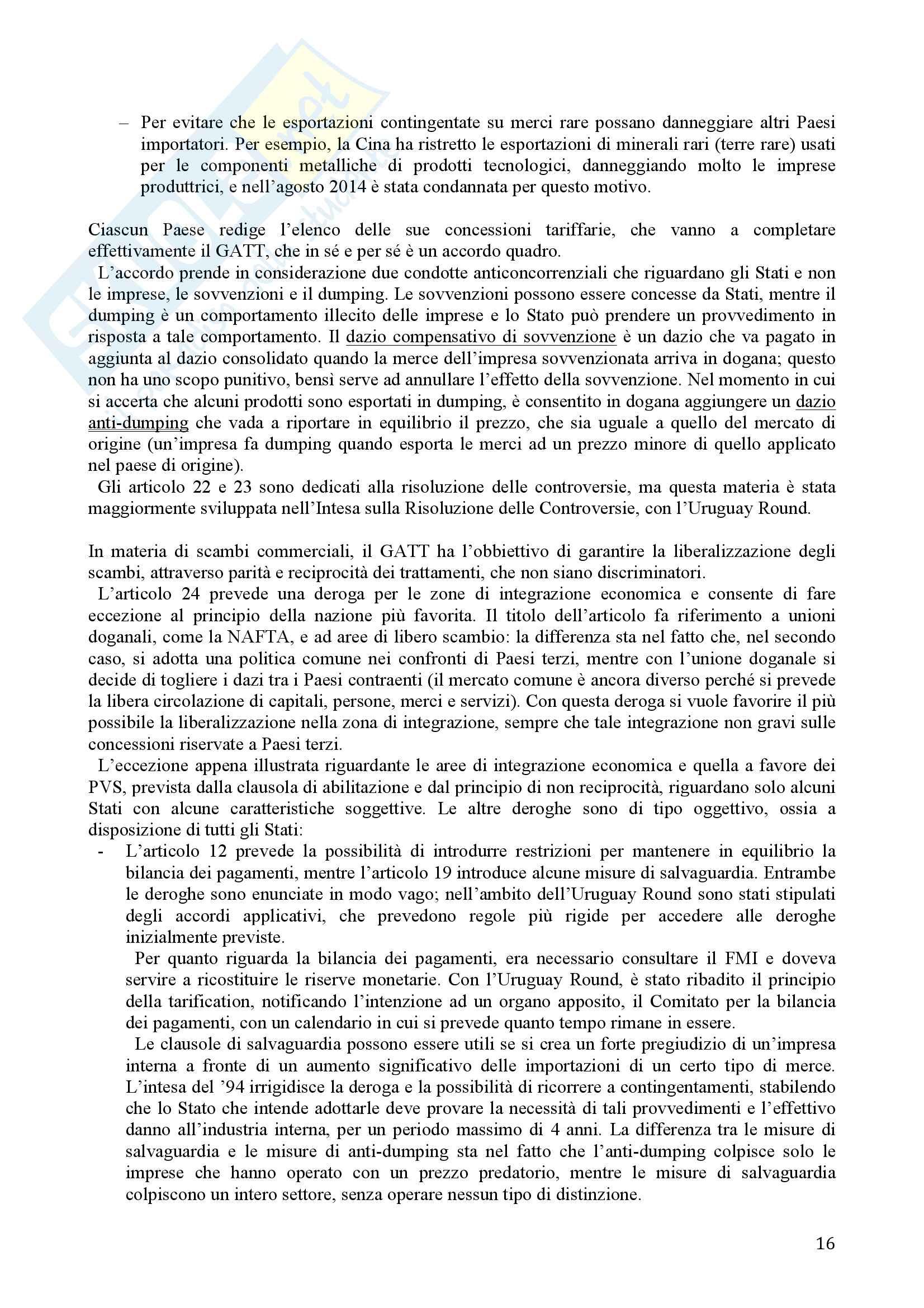 Diritto Internazionale dell'Economia Pag. 16