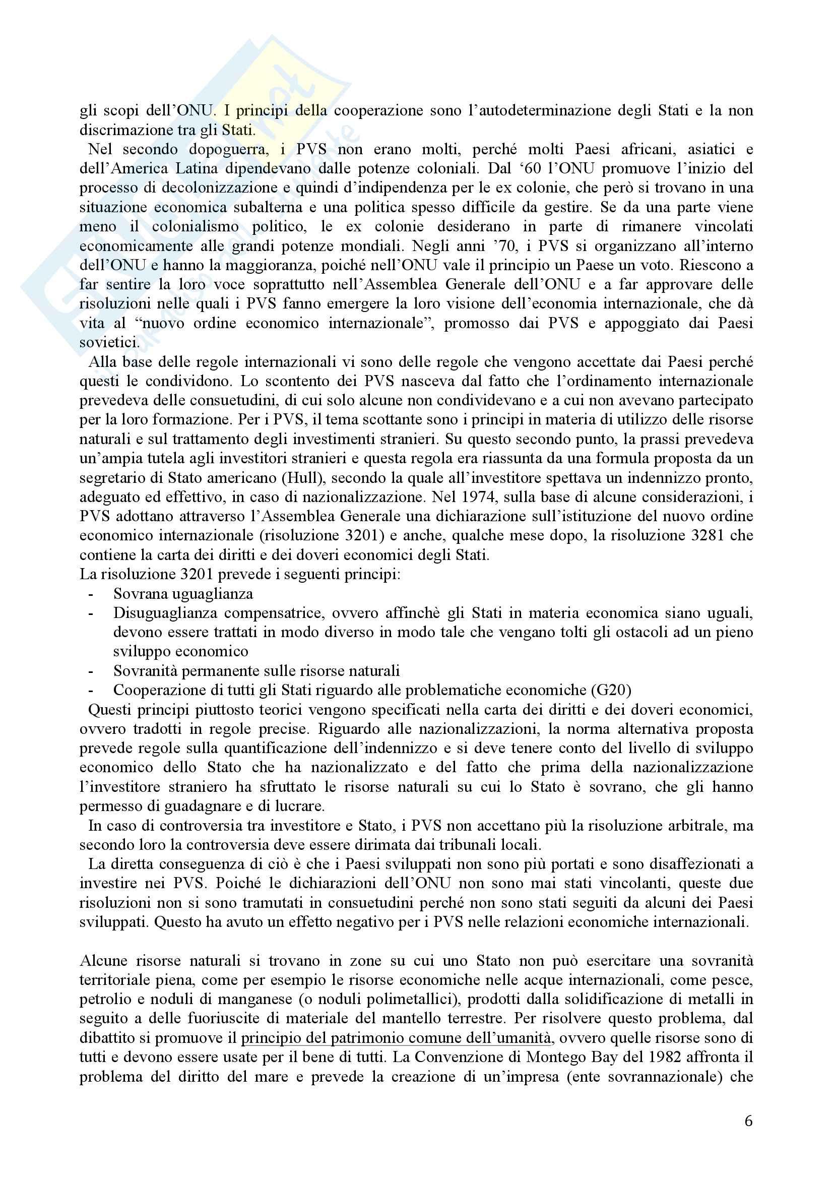 Diritto Internazionale dell'Economia Pag. 6