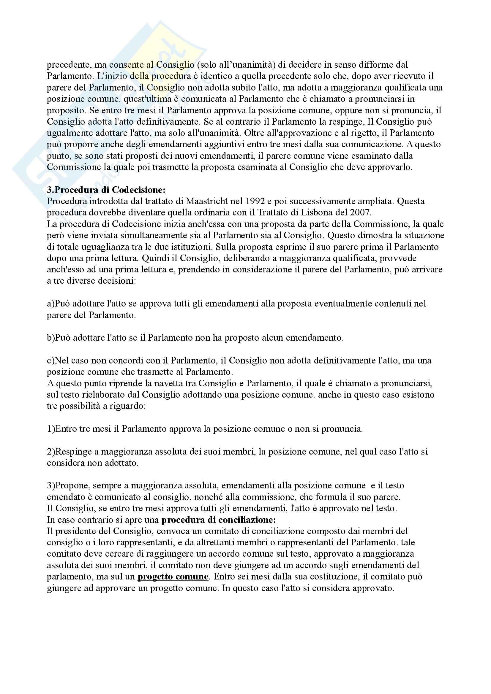 Riassunto esame Diritto dell'Unione Europea, prof. Caggiano, libro consigliato Istituzioni di Diritto dell'Unione Europea, Villani Pag. 11