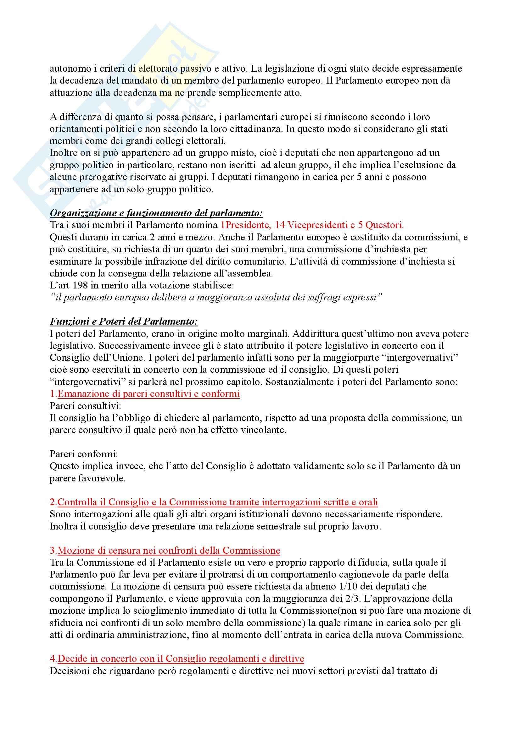 Riassunto esame Diritto dell'Unione Europea, prof. Caggiano, libro consigliato Istituzioni di Diritto dell'Unione Europea, Villani Pag. 2
