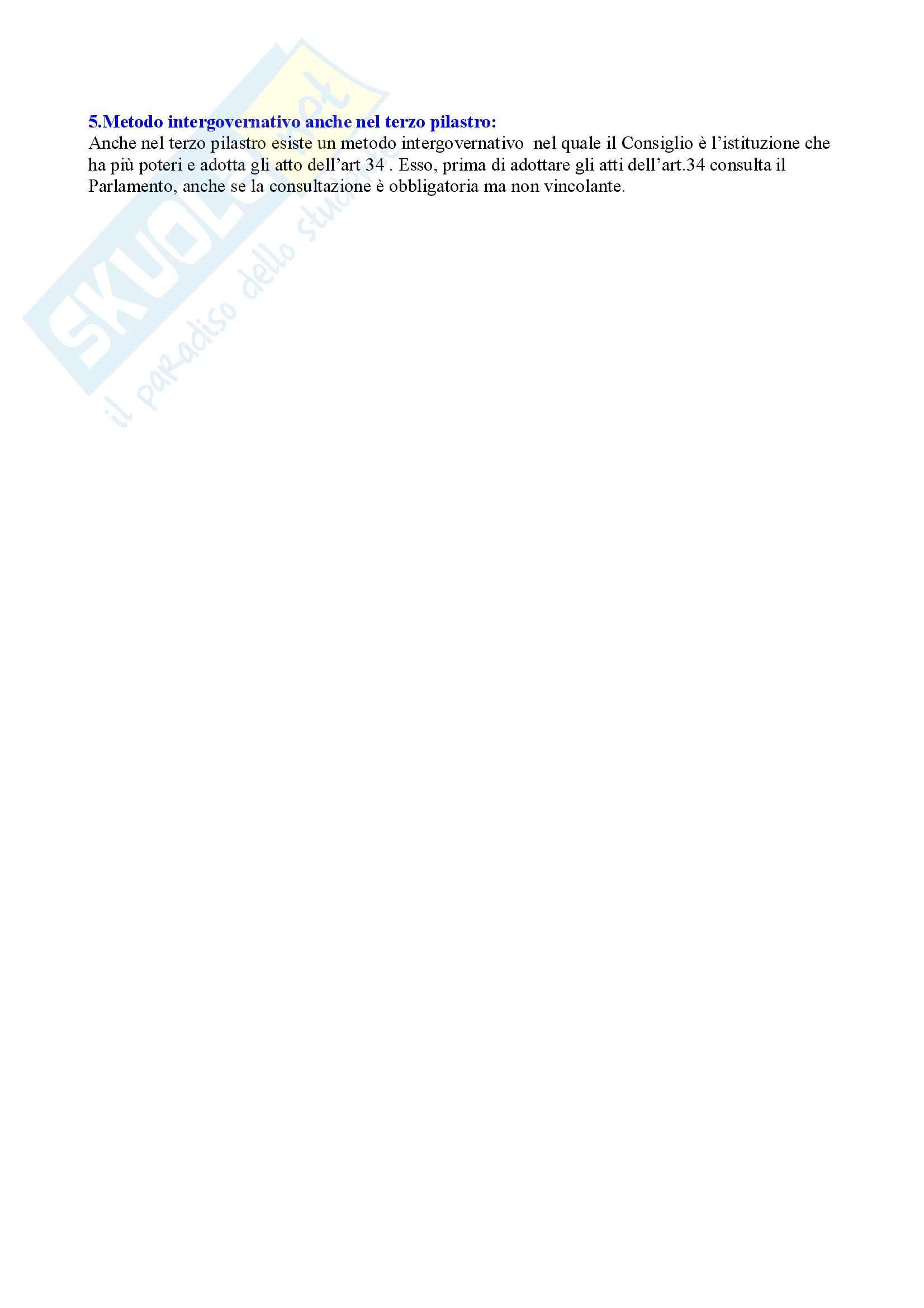 Riassunto esame Diritto dell'Unione Europea, prof. Caggiano, libro consigliato Istituzioni di Diritto dell'Unione Europea, Villani Pag. 26