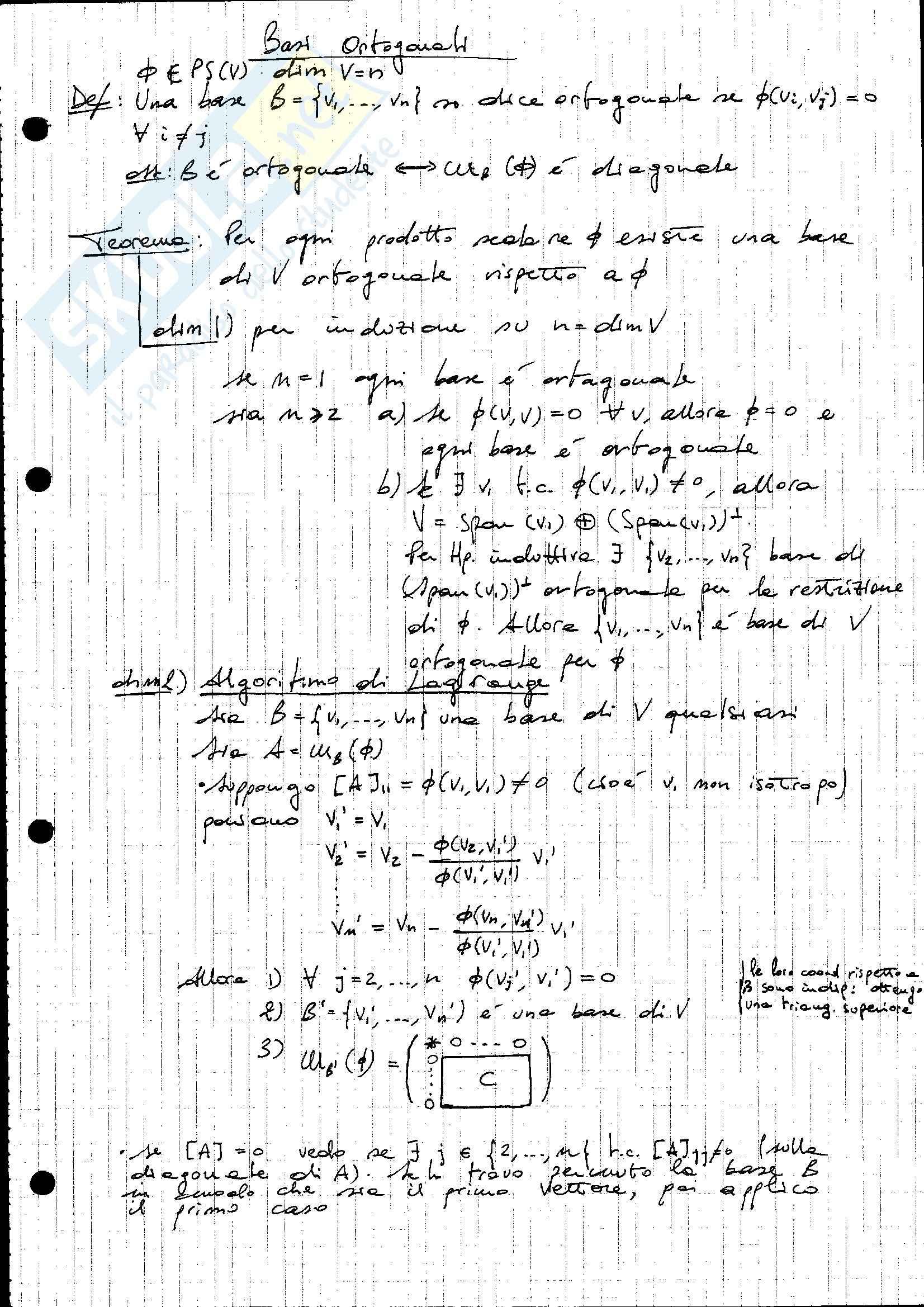 Parte 2, Geometria analitica e algebra lineare Pag. 16