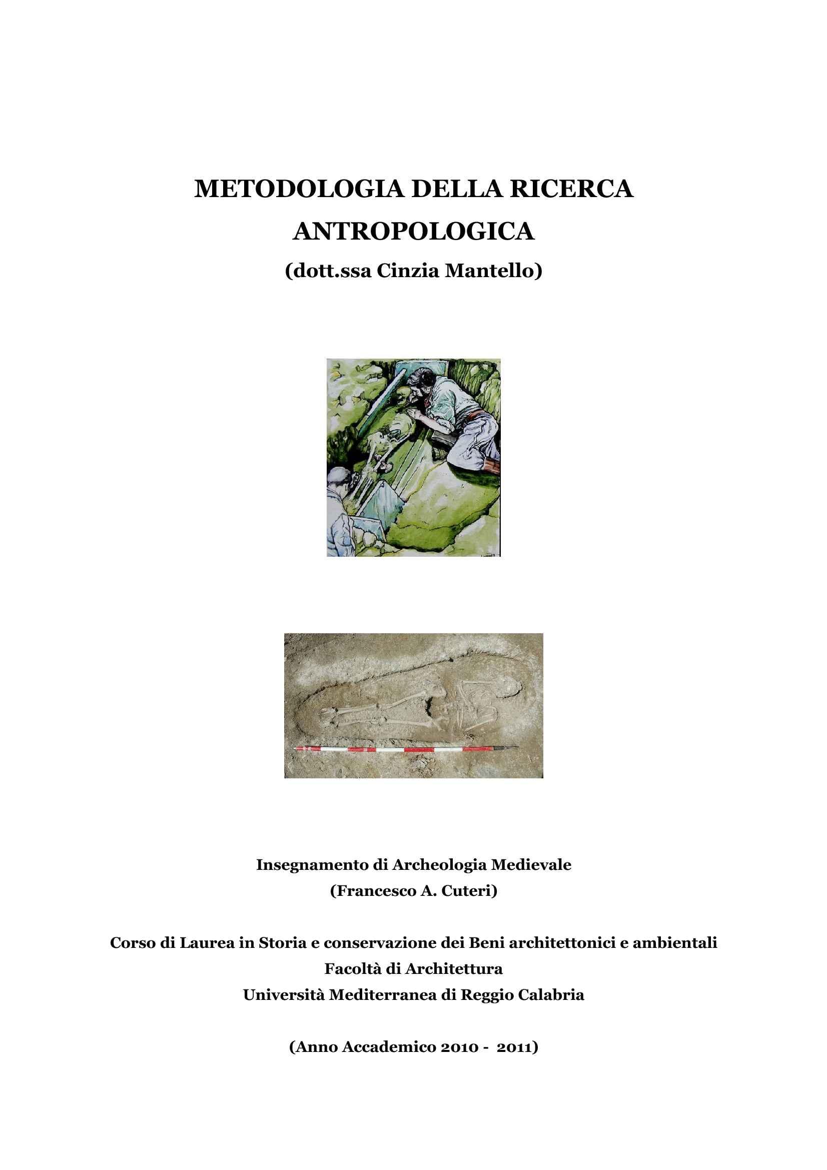 Ricerca antropologica - Metodologia
