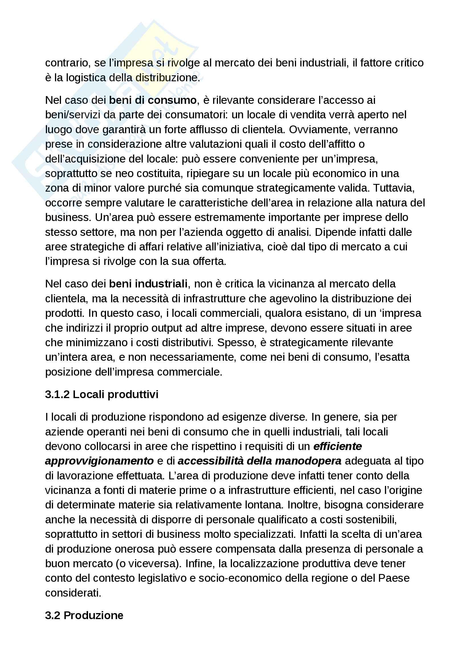 Piano operativo del business plan Pag. 2