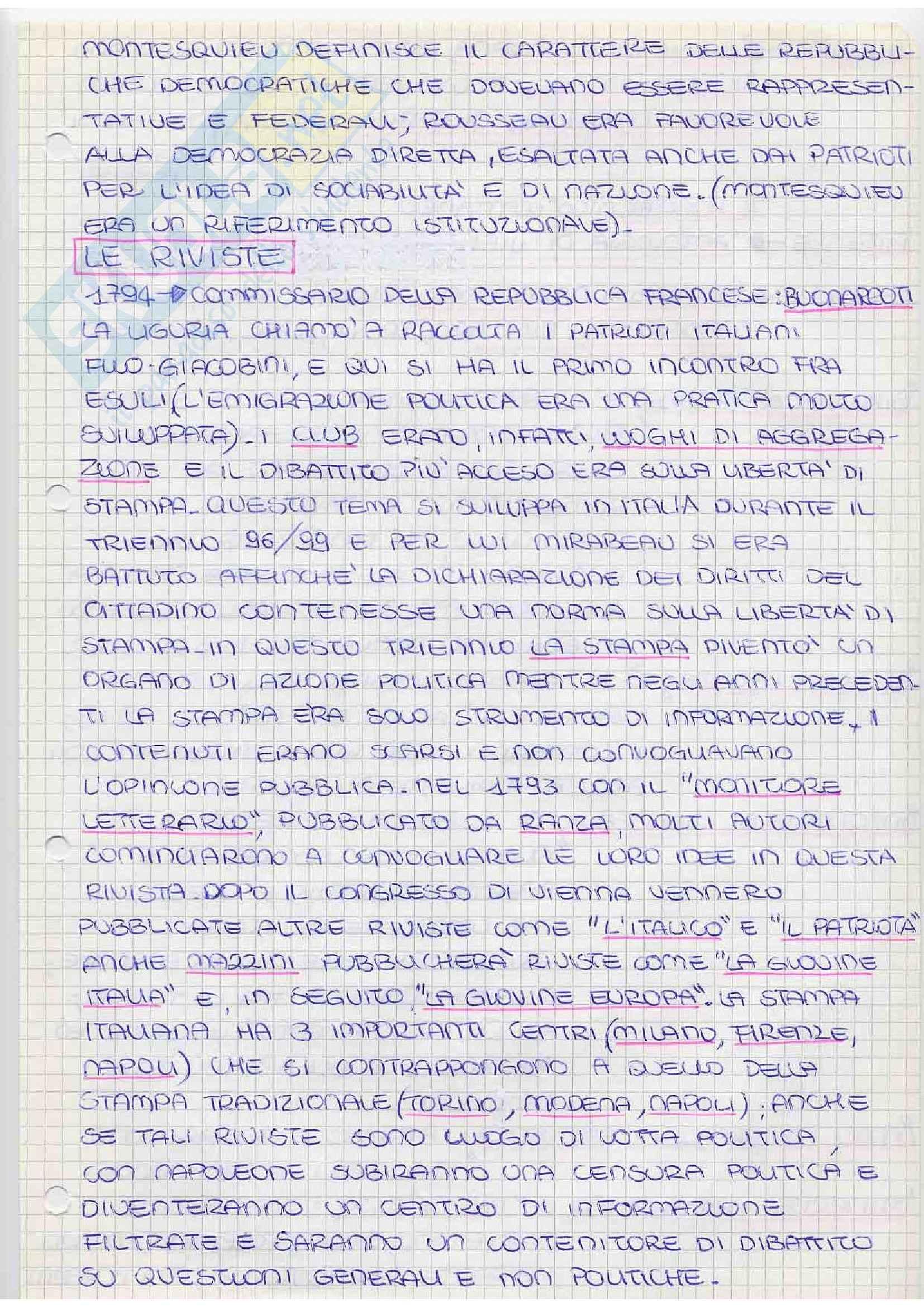 Storia del pensiero politico - Buonarroti