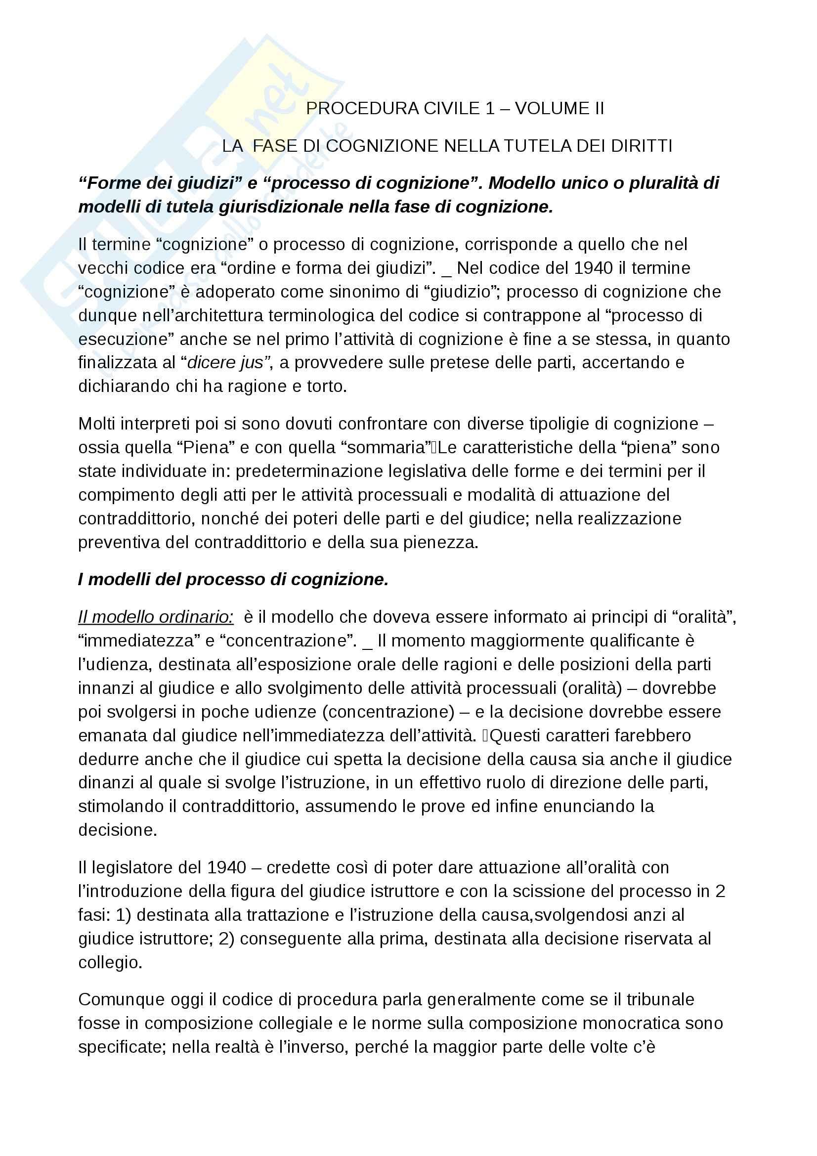 Riassunto esame Procedura civile, prof. Ruffini, libro consigliato Diritto processuale civile, Punzi