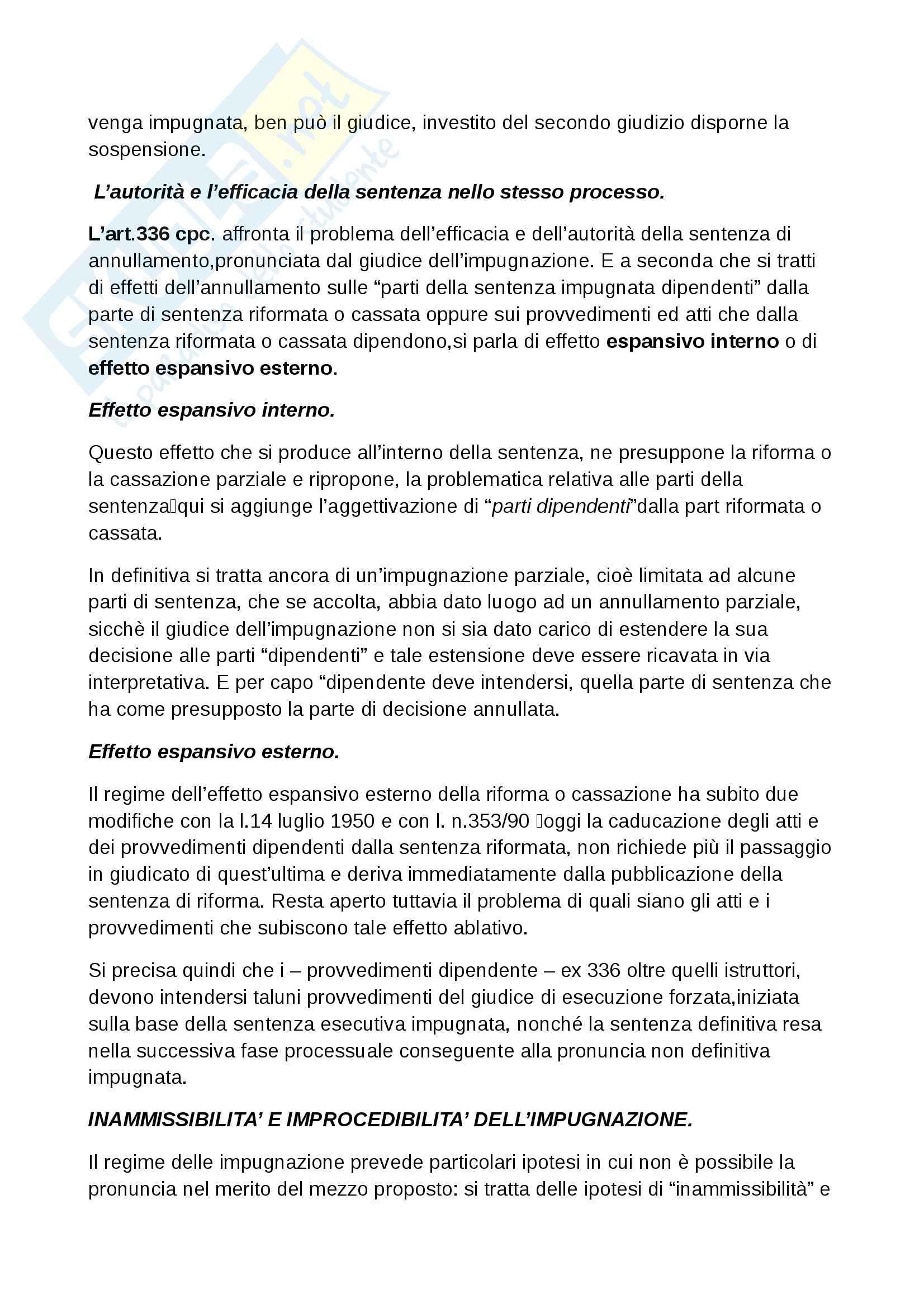 Riassunto esame Procedura civile, prof. Ruffini, libro consigliato Diritto processuale civile, Punzi Pag. 91