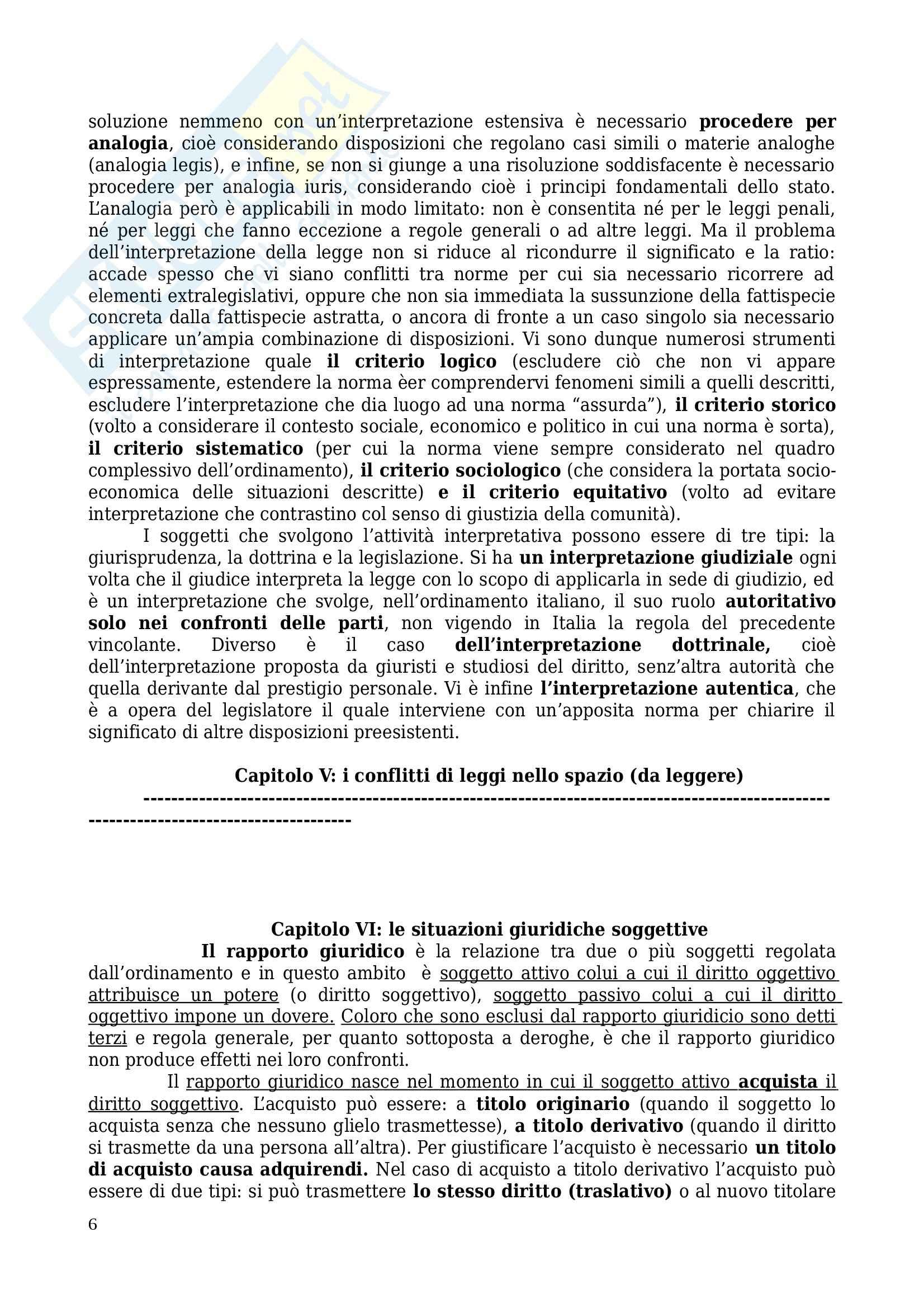 Riassunto esame Diritto privato, prof. Sartori, libro consigliato Manuale di diritto privato, Torrente, Schlesinger Pag. 6
