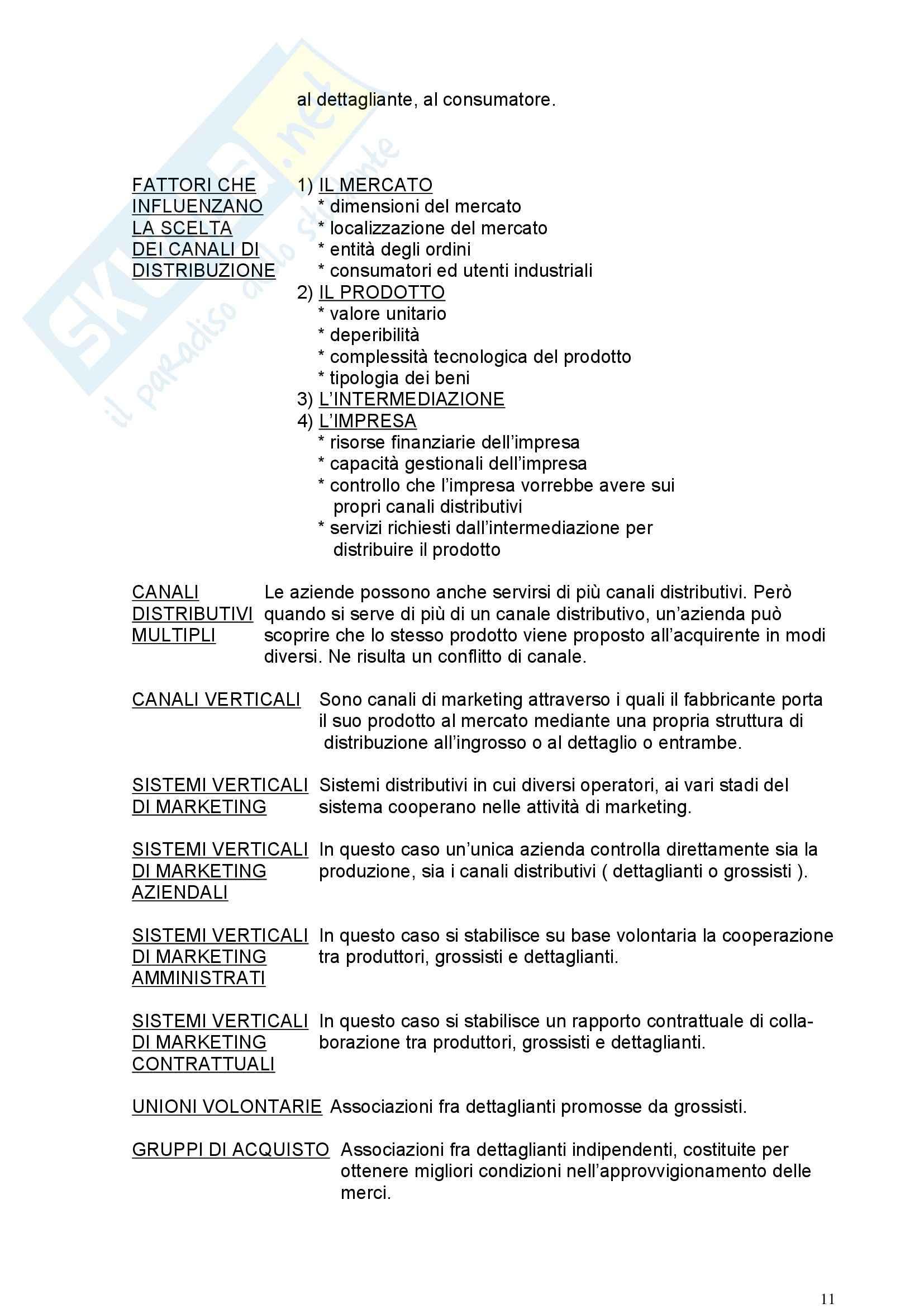 Riassunto esame Marketing, prof. Signori, libro consigliato Marketing, Mc Graw Hill Pag. 11