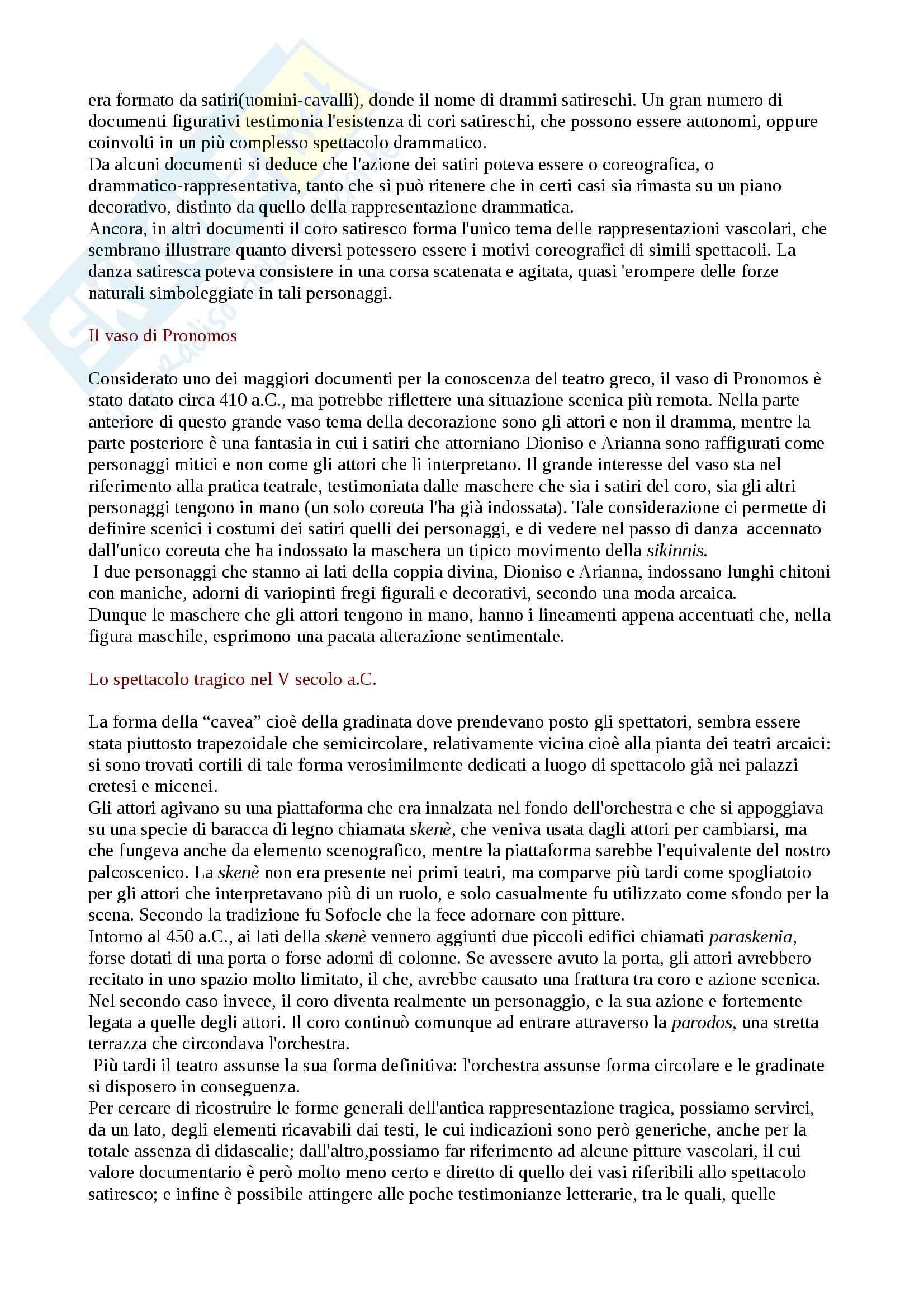 Riassunto esame Storia del teatro e dello spettacolo, prof. Guardenti, libro consigliato Storia del Teatro, Molinari Pag. 2