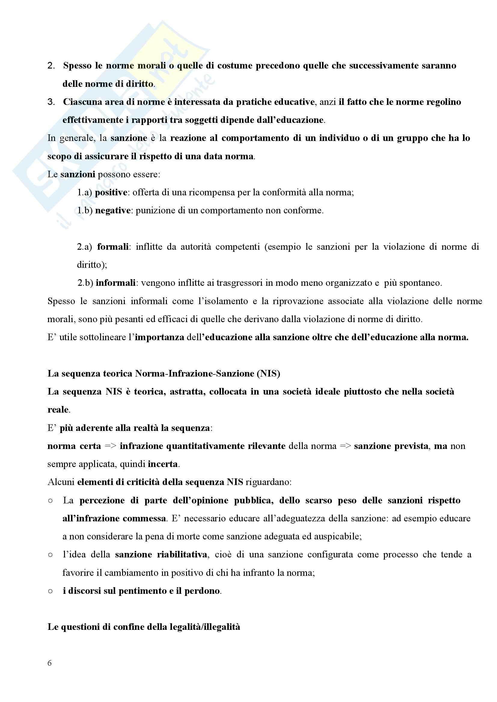 Riassunto esame Pedagogia Sociale, prof. Tramma, libro consigliato Legalità Illegalità: Il Confine Pedagogico Pag. 6