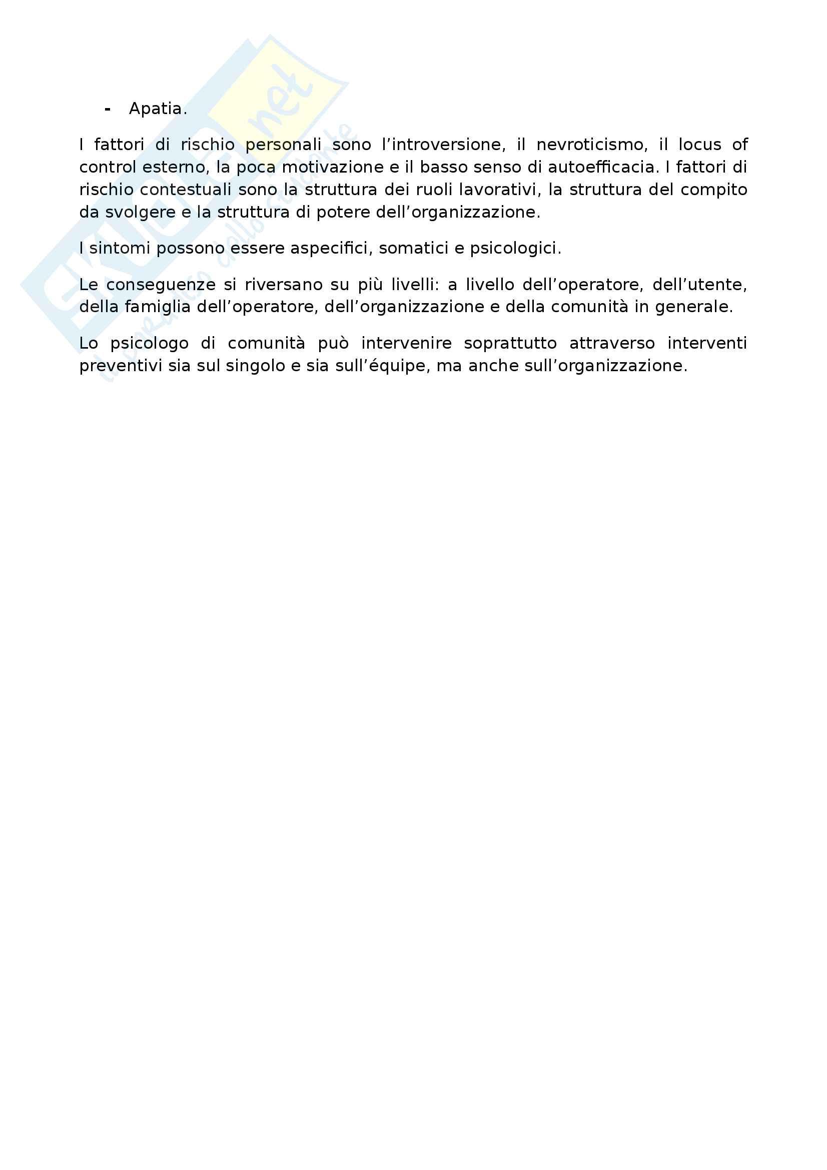 Riassunto esame psicologia di comunità, prof. Curiale, libro consigliato Fondamenti di psicologia di comunità. Principi, strumenti e ambiti di applicazioni, Francescato, Tomai, Ghirelli Pag. 31