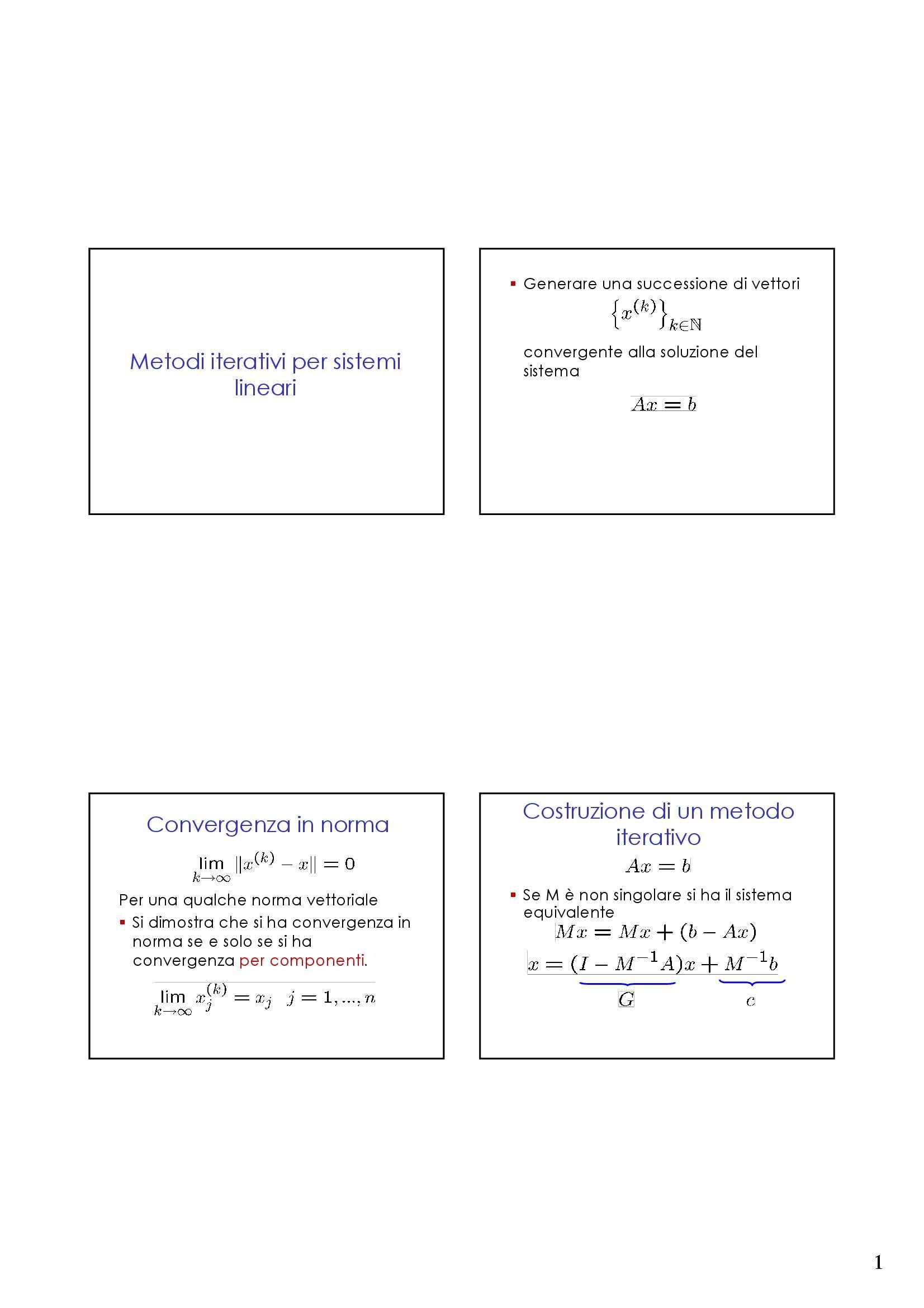 dispensa S. Bonettini Calcolo Numerico