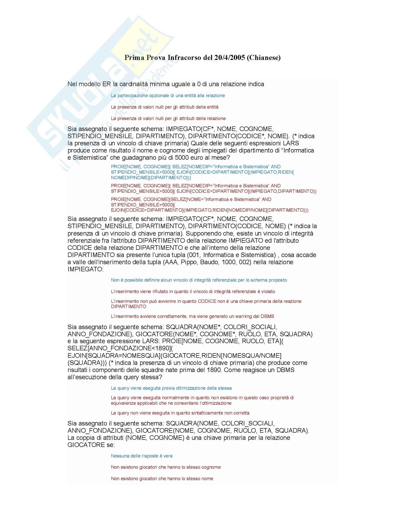 Fondamenti di informatica - Esercitazioni