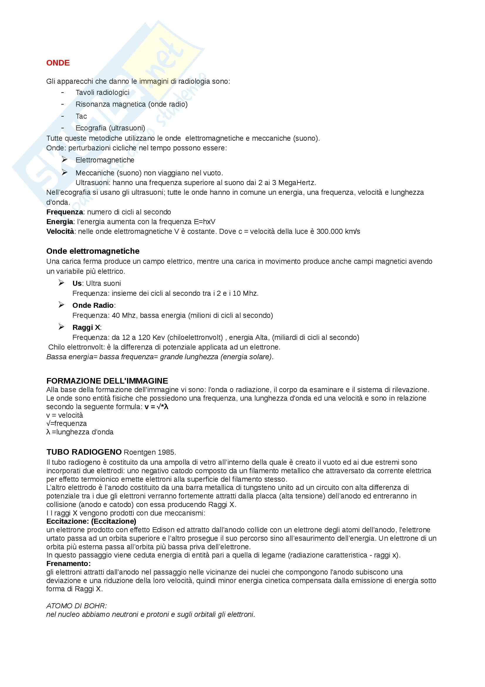 Radiologia - Appunti Pag. 1
