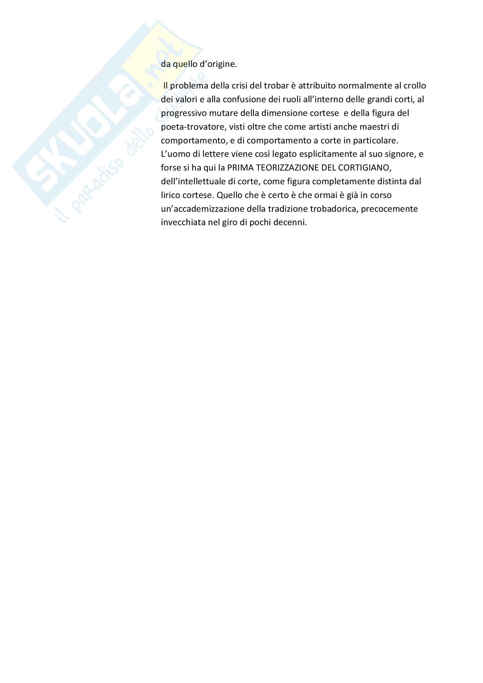 Riassunto esame Filologia Medievale e Umanistica, Cigni libro consigliato Costanzo Di Girolamo. I trovatori Pag. 16