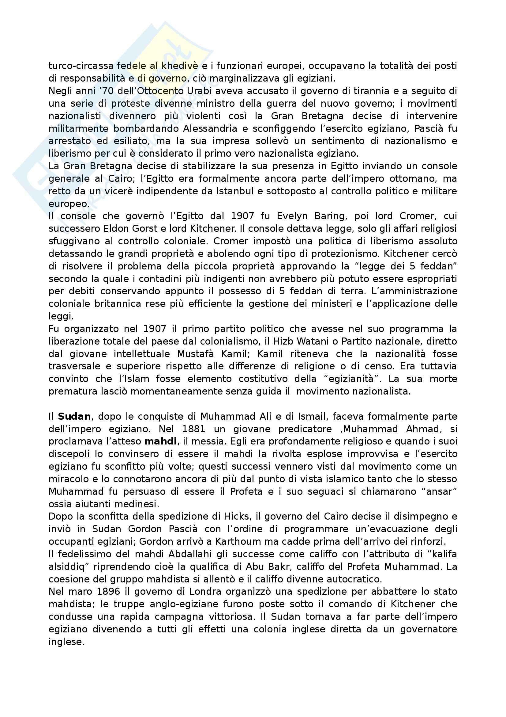 Riassunto esame Sociologia delle Relazioni Internazionali, prof. Anzera, libro consigliato Storia del Medio Oriente, Campanini Pag. 6