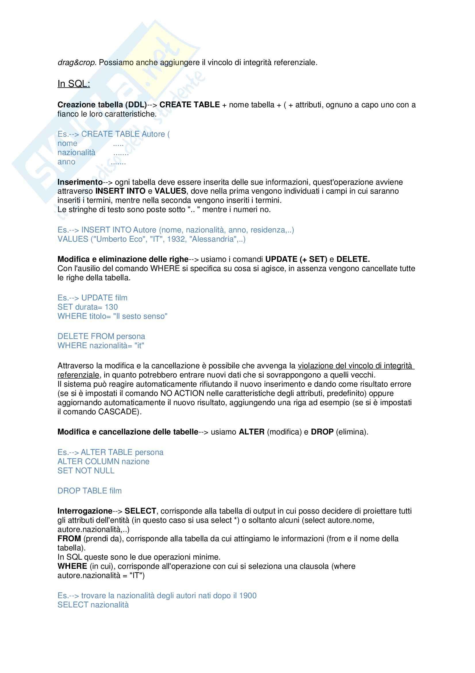 Riassunto esame Informatica, prof. Ferrara, libro consigliato Informazione, conoscenza e web per le scienze umanistiche, Ferrara Pag. 6