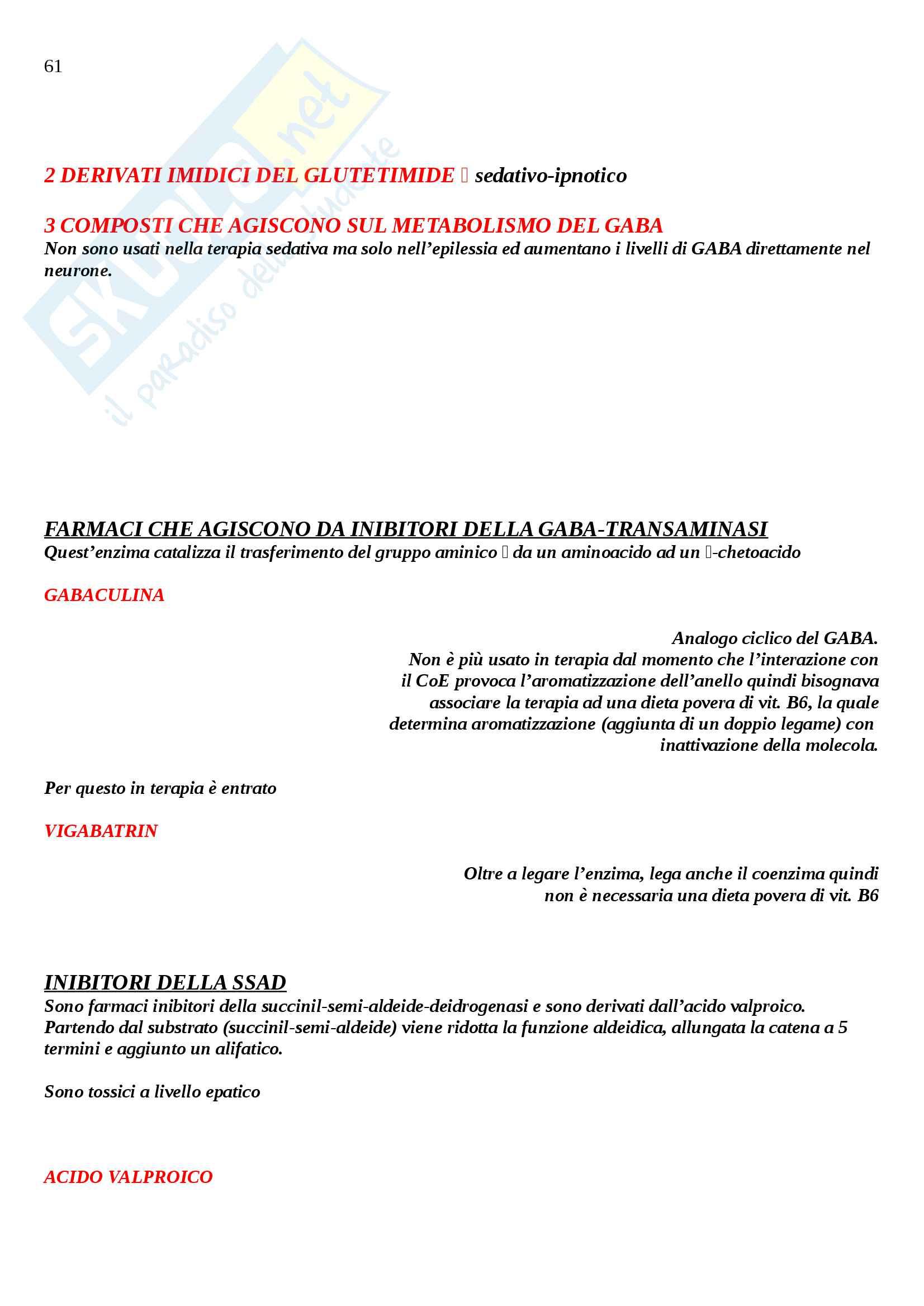 Chimica farmaceutica 2 Pag. 61