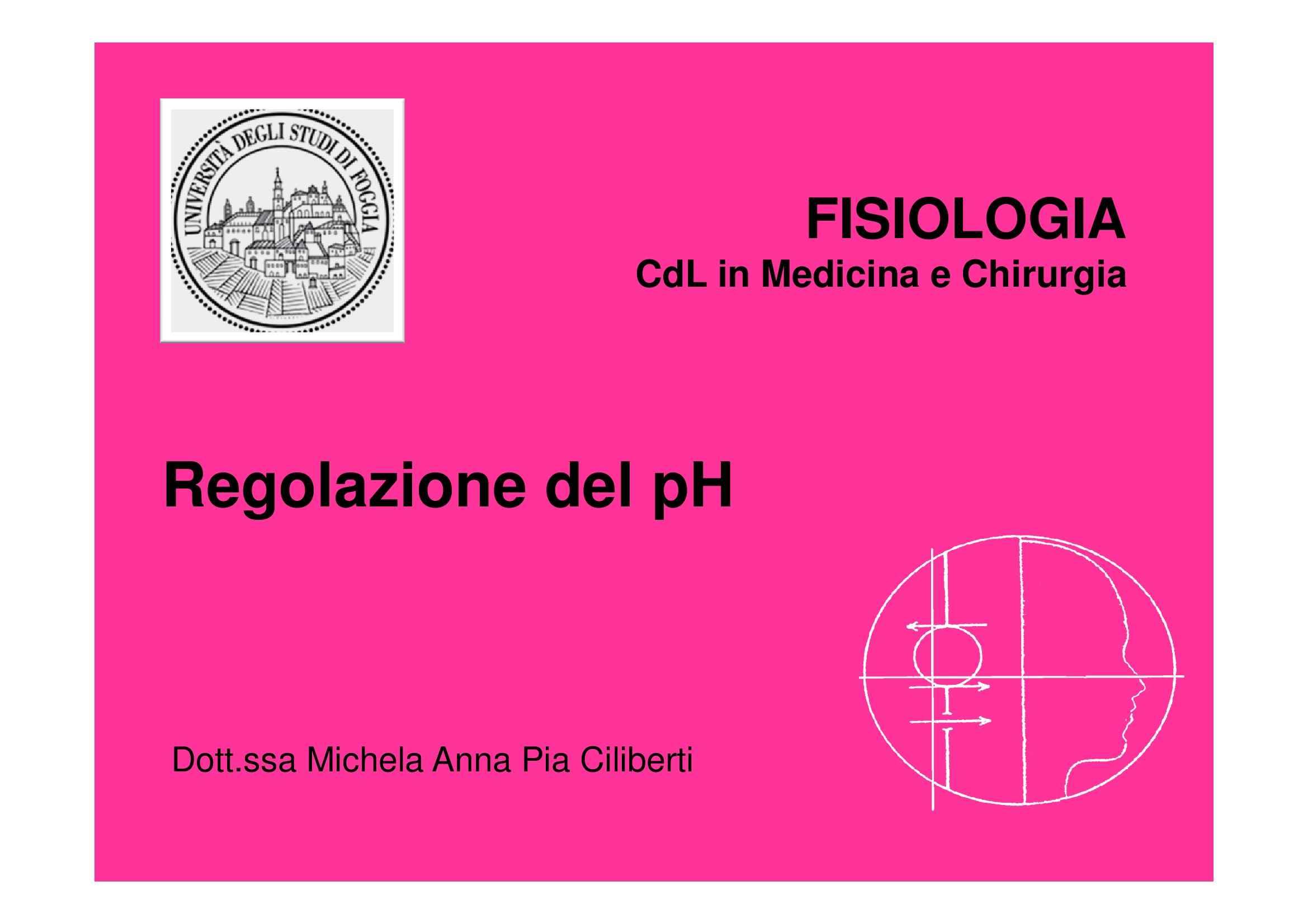 Fisiologia umana II - regolazione pH