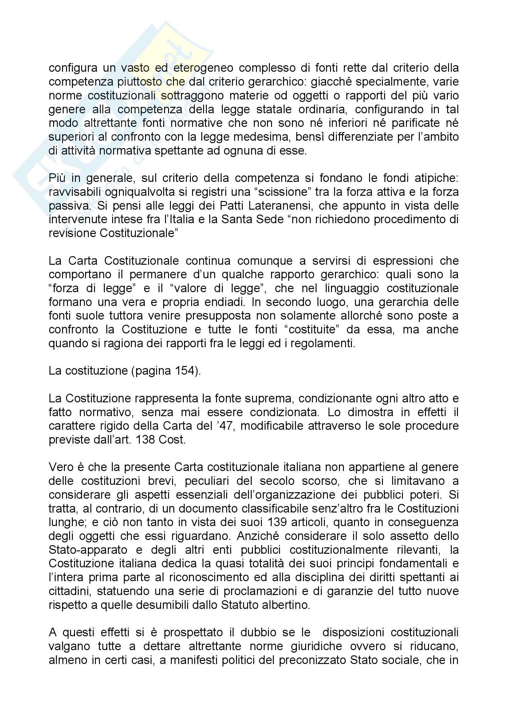 Riassunto esame Diritto Costituzionale, prof. Olivetti Pag. 36