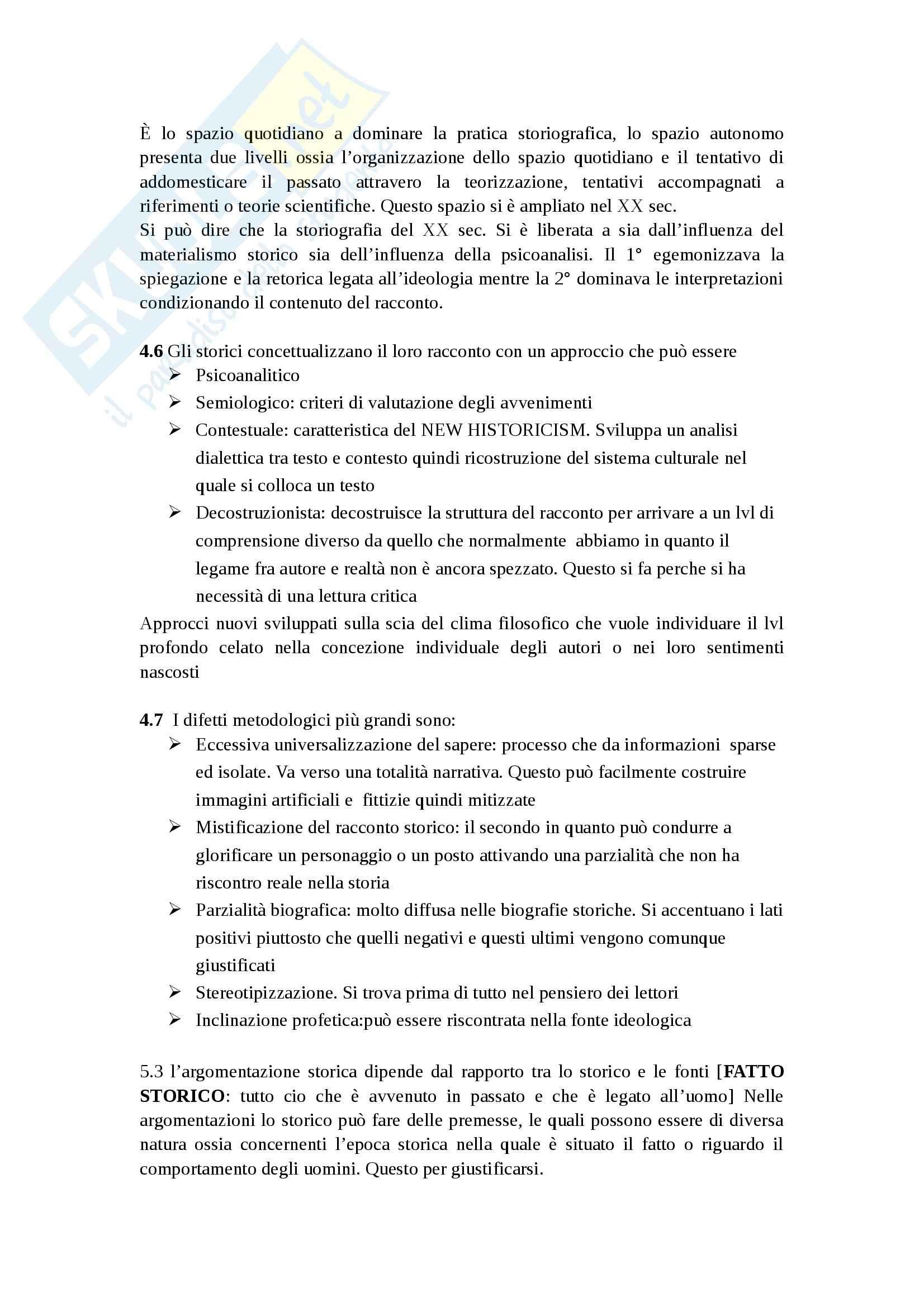 Riassunto esame Metodologia della ricerca storica, prof. Merluzzi, libro consigliato Narrare la storia di Topolski Pag. 6
