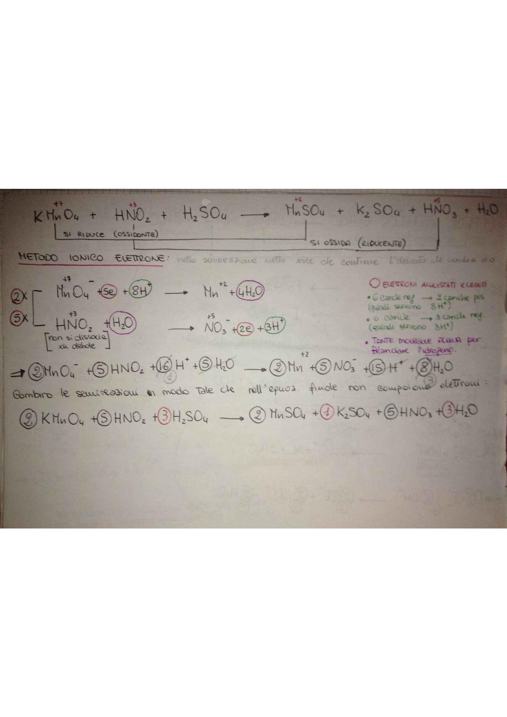 Fondamenti di chimica - reazioni chimiche e esercizi sulle ossidoriduzioni Pag. 11