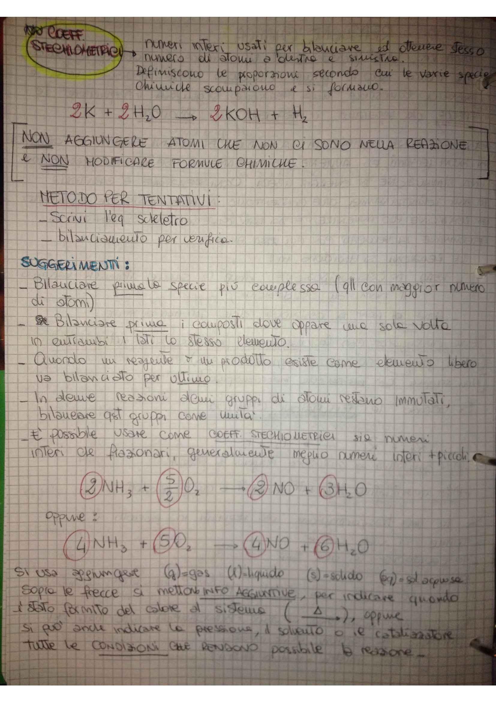 Fondamenti di chimica - reazioni chimiche e esercizi sulle ossidoriduzioni Pag. 2