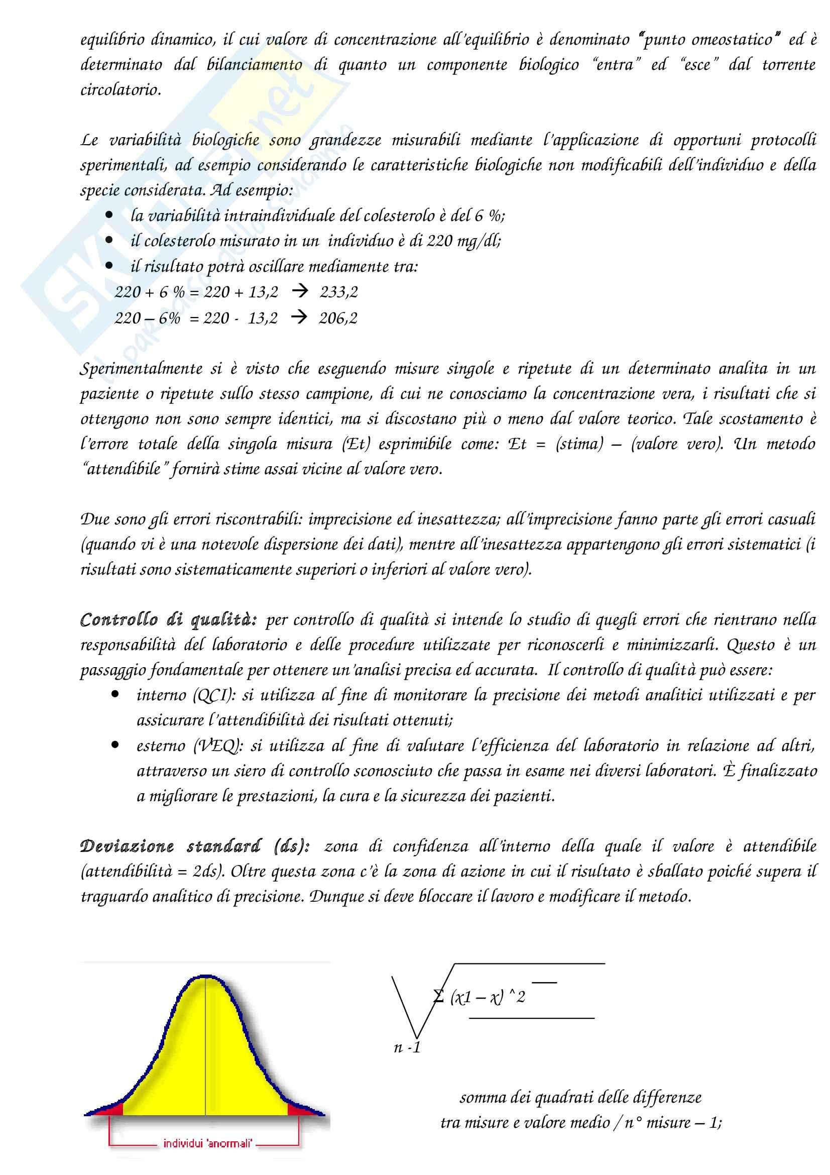 Lezioni, Biochimica Clinica Pag. 6