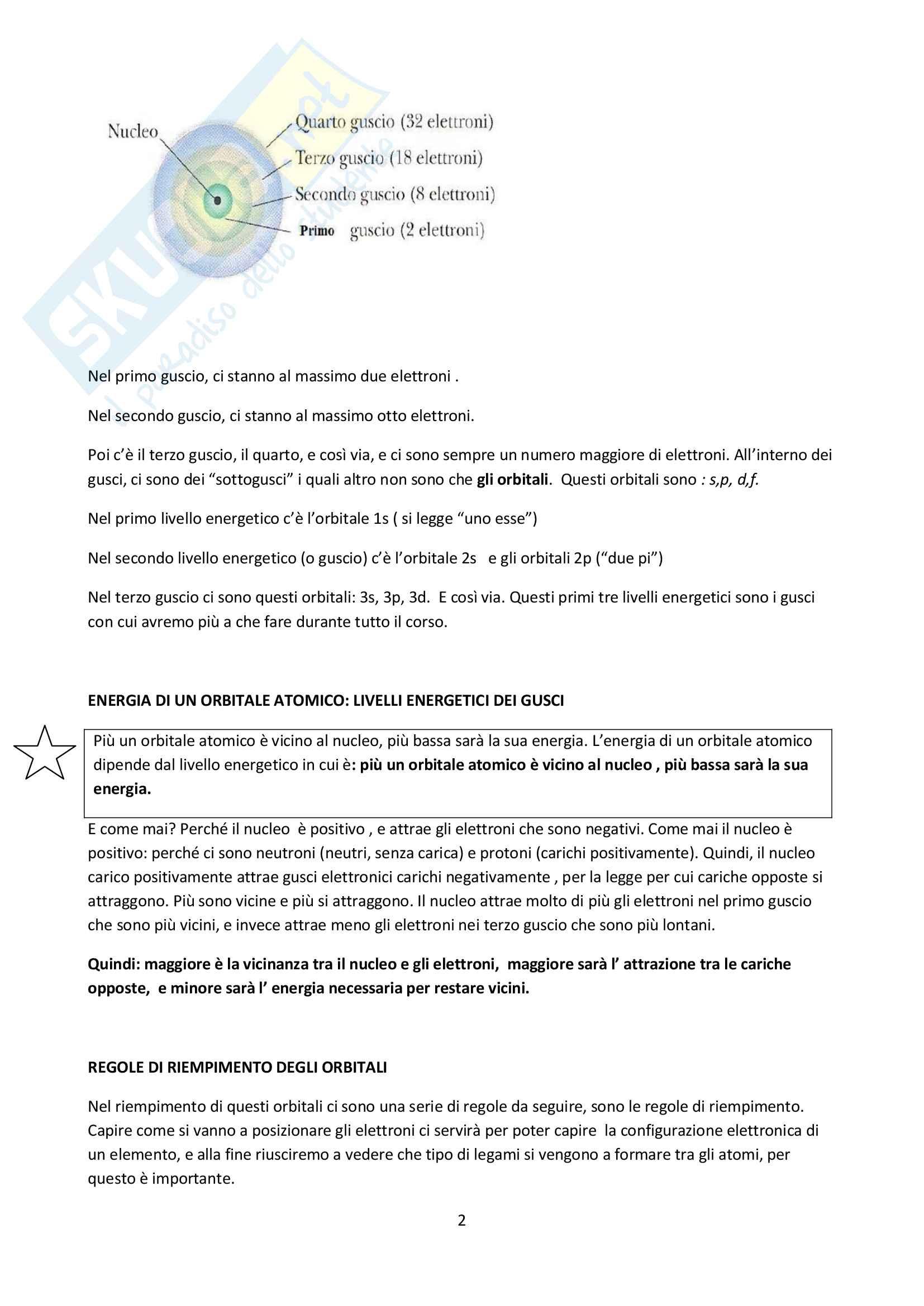 Principi fondamentali:legami chimici, orbitali e ibridazione del carbonio Pag. 2