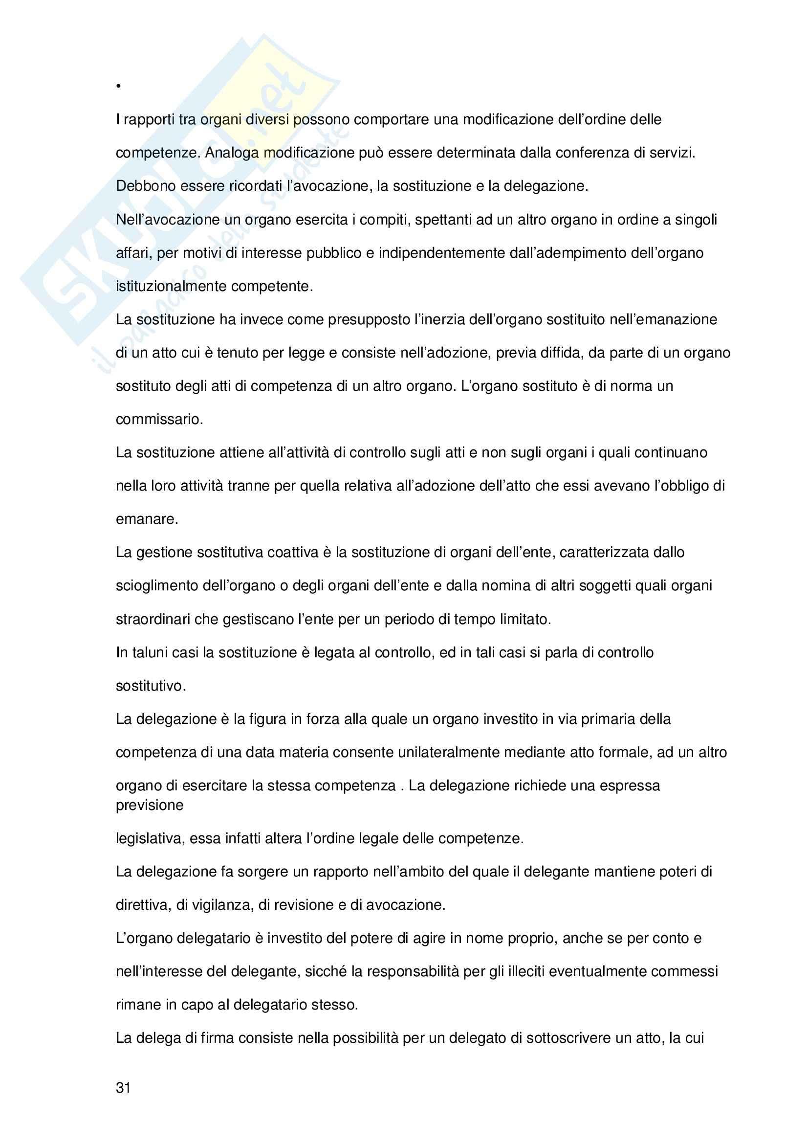 Riassunto esame Diritto Amministrativo, prof. Tigano, libro consigliato Manuale di Diritto Amministrativo, Casetta Pag. 31